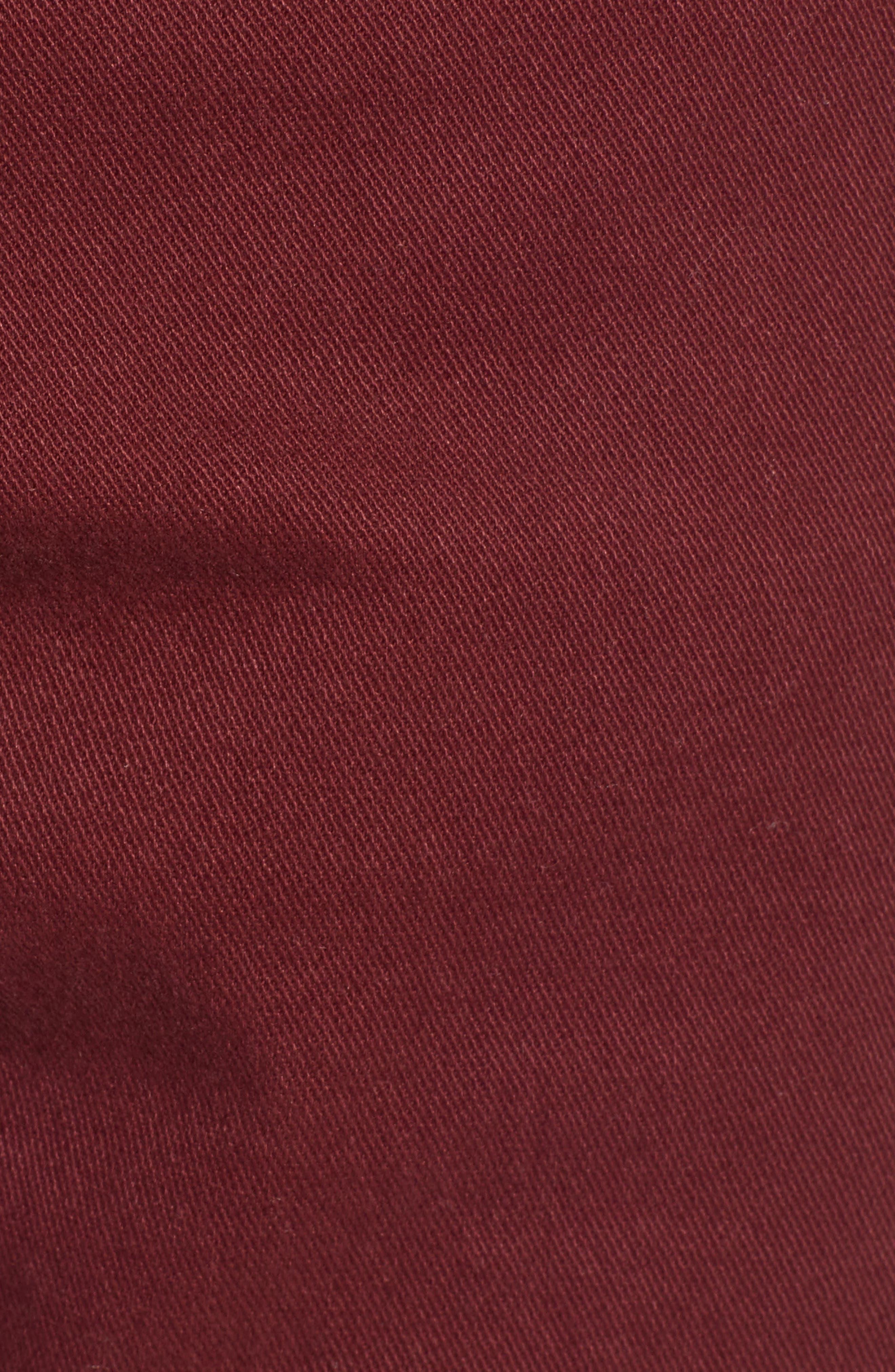 'Daggers' Slim Fit Twill Pants,                             Alternate thumbnail 5, color,                             BORDEAUX