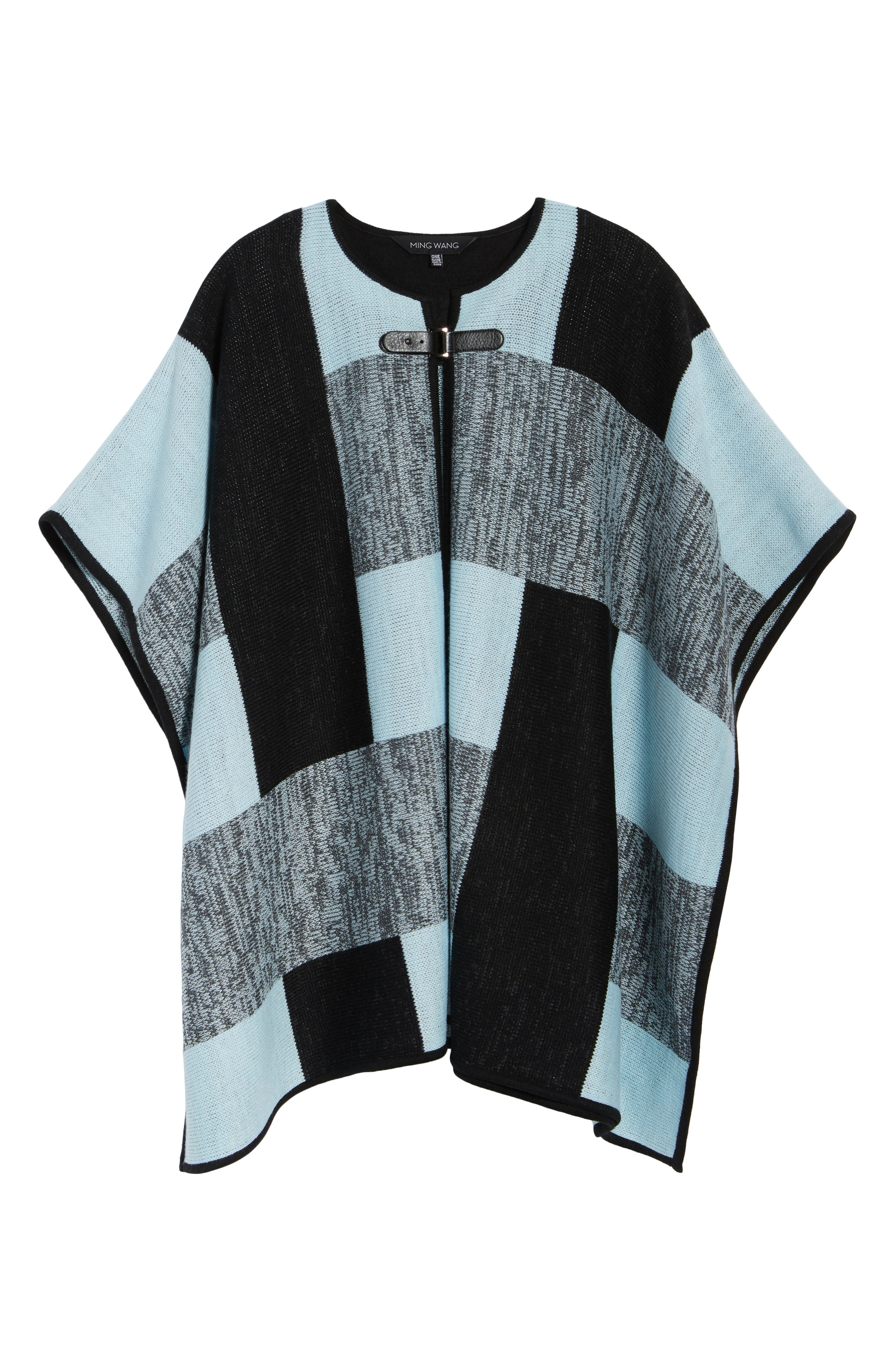 Buckle Front Poncho Cardigan,                             Alternate thumbnail 5, color,                             401