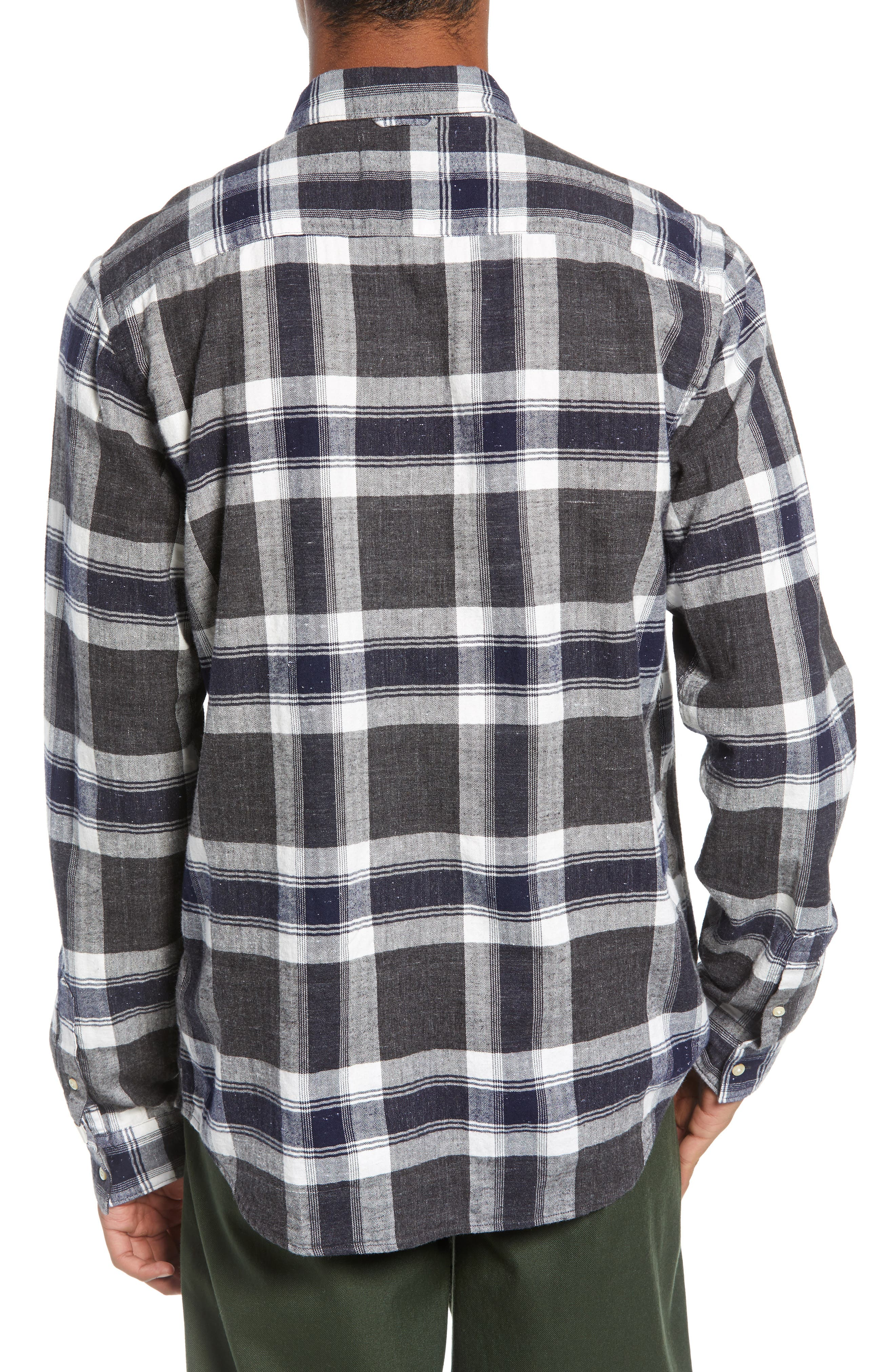 Herringbone Plaid Shirt,                             Alternate thumbnail 3, color,                             COMBO F