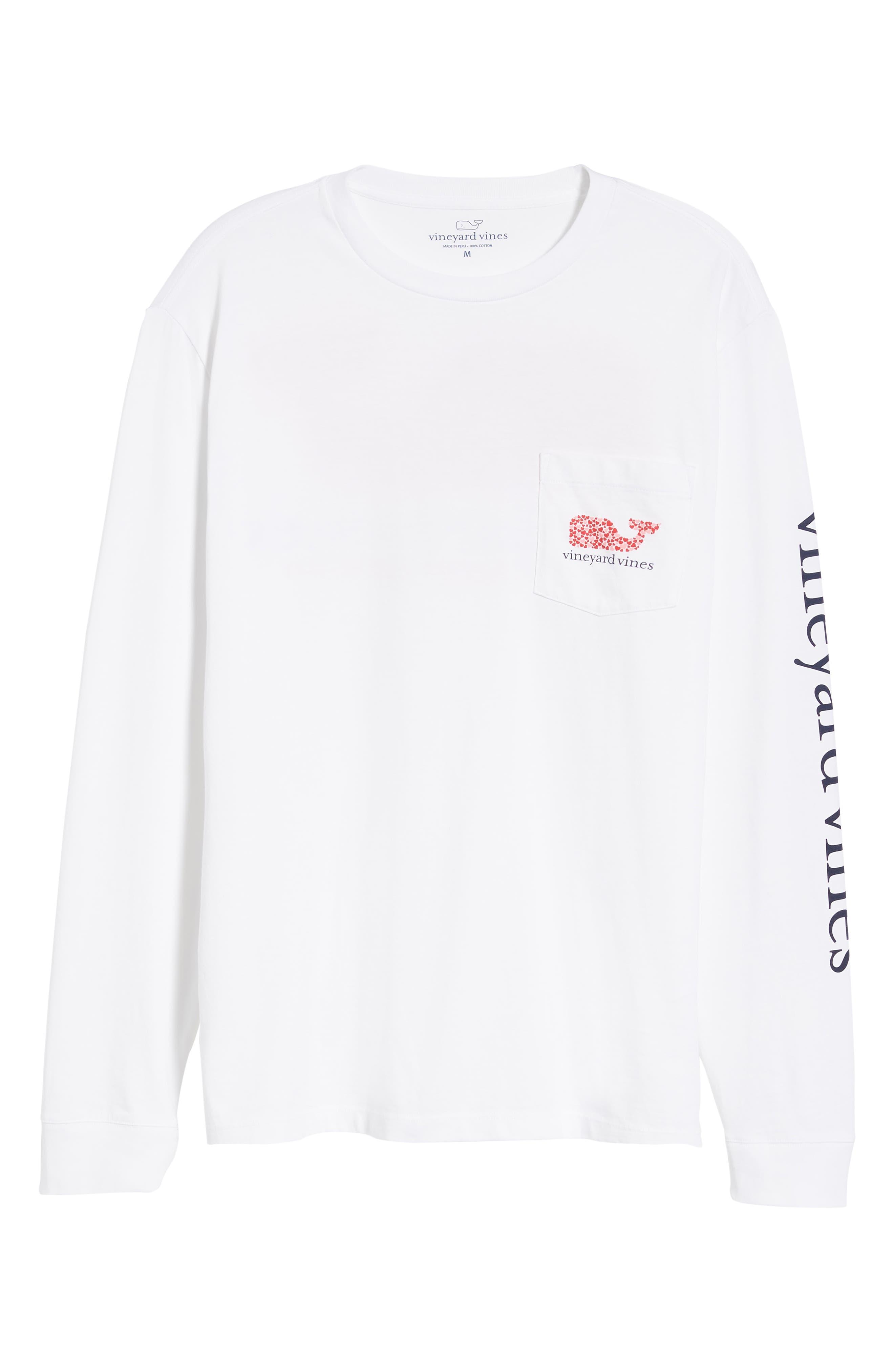 VINEYARD VINES,                             Valentine's Day Pocket T-Shirt,                             Alternate thumbnail 6, color,                             WHITE CAP