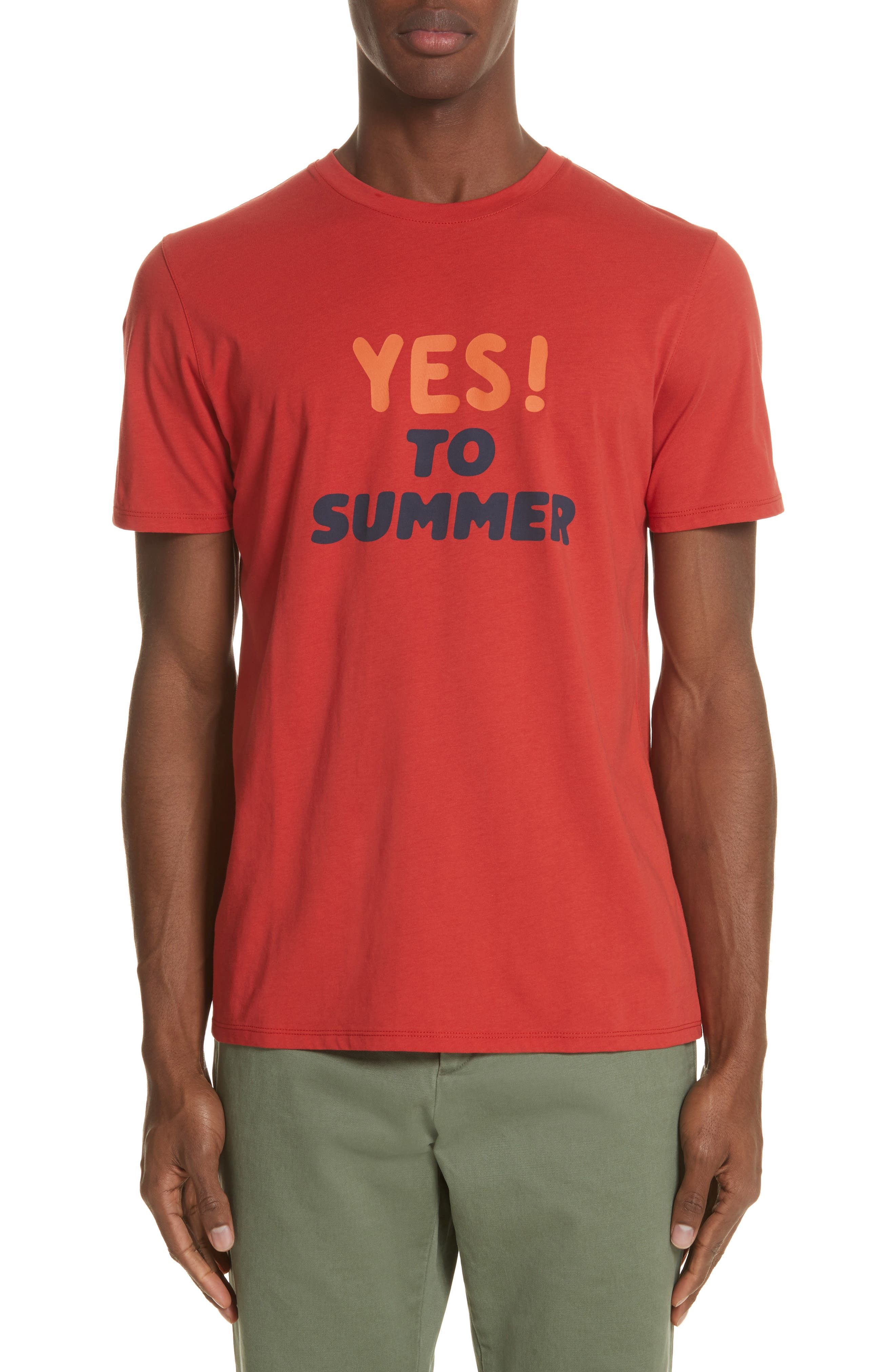 Yes! To Summer Graphic T-Shirt,                             Main thumbnail 1, color,                             ROUGE
