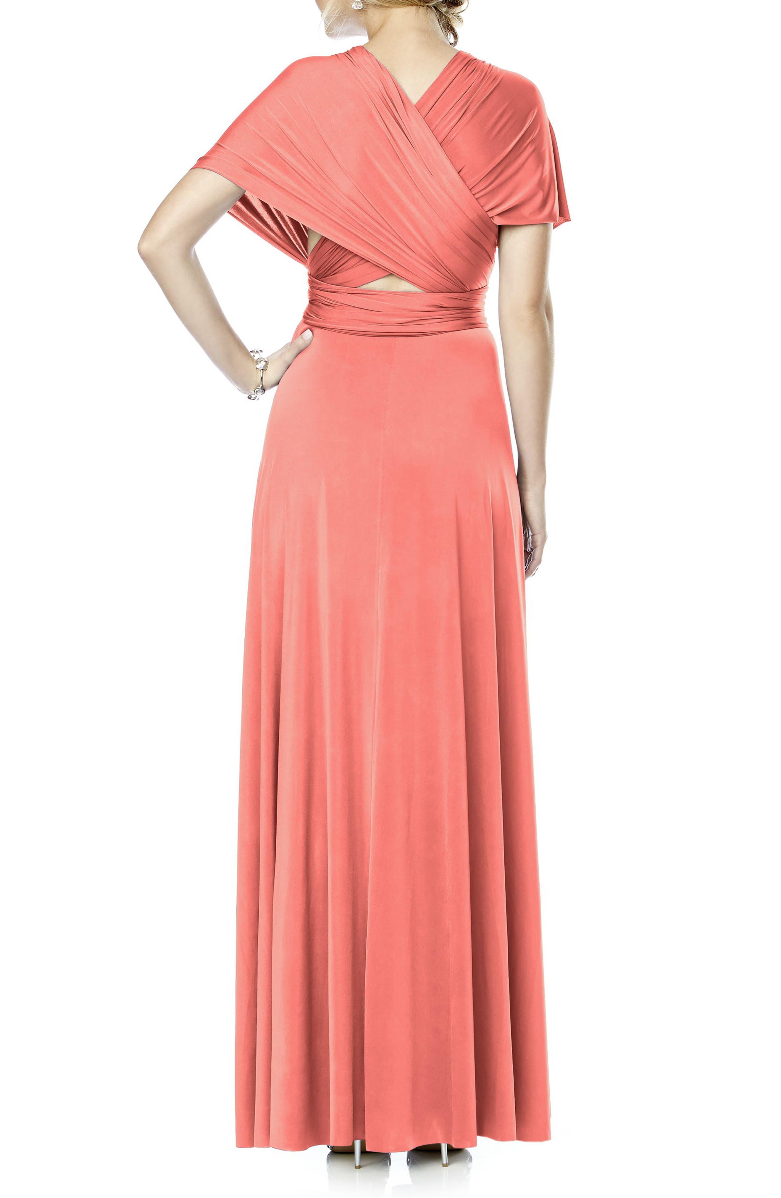 Convertible Wrap Tie Surplice Jersey Gown,                             Alternate thumbnail 24, color,