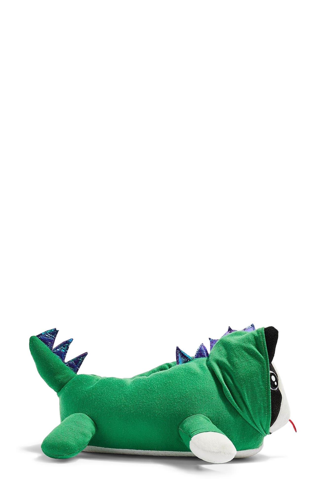 Dino Dog Slippers,                             Alternate thumbnail 3, color,                             300