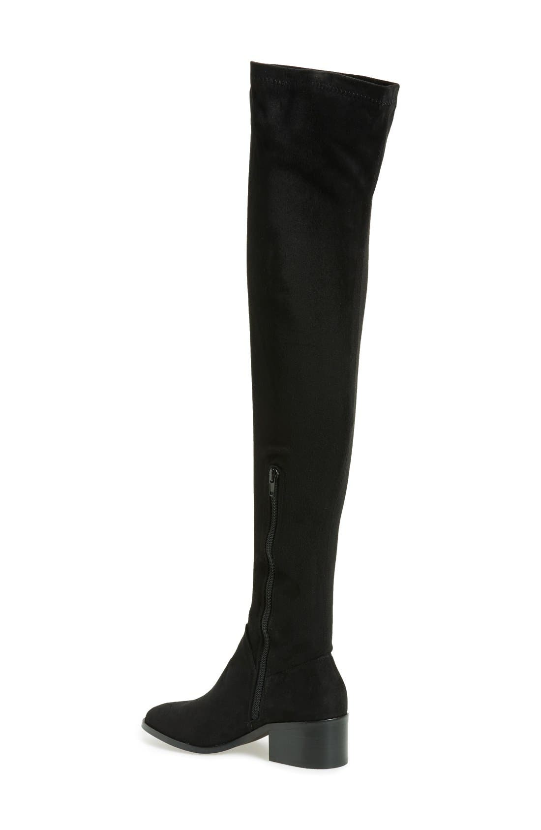 STEVE MADDEN,                             Gabriana Stretch Over the Knee Boot,                             Alternate thumbnail 5, color,                             001