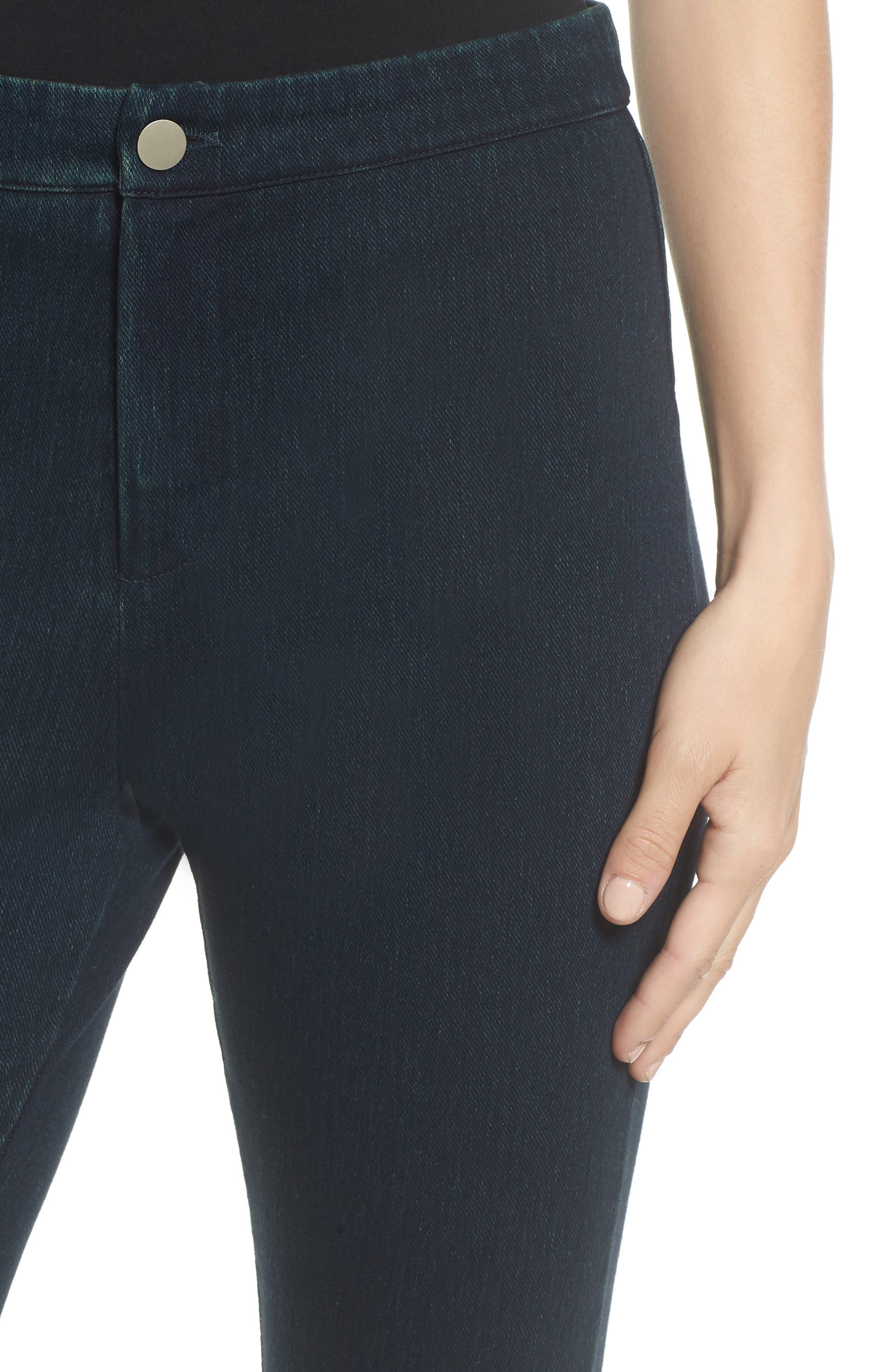 Lysse Cigarette Leg Jeans,                             Alternate thumbnail 4, color,                             INDIGO