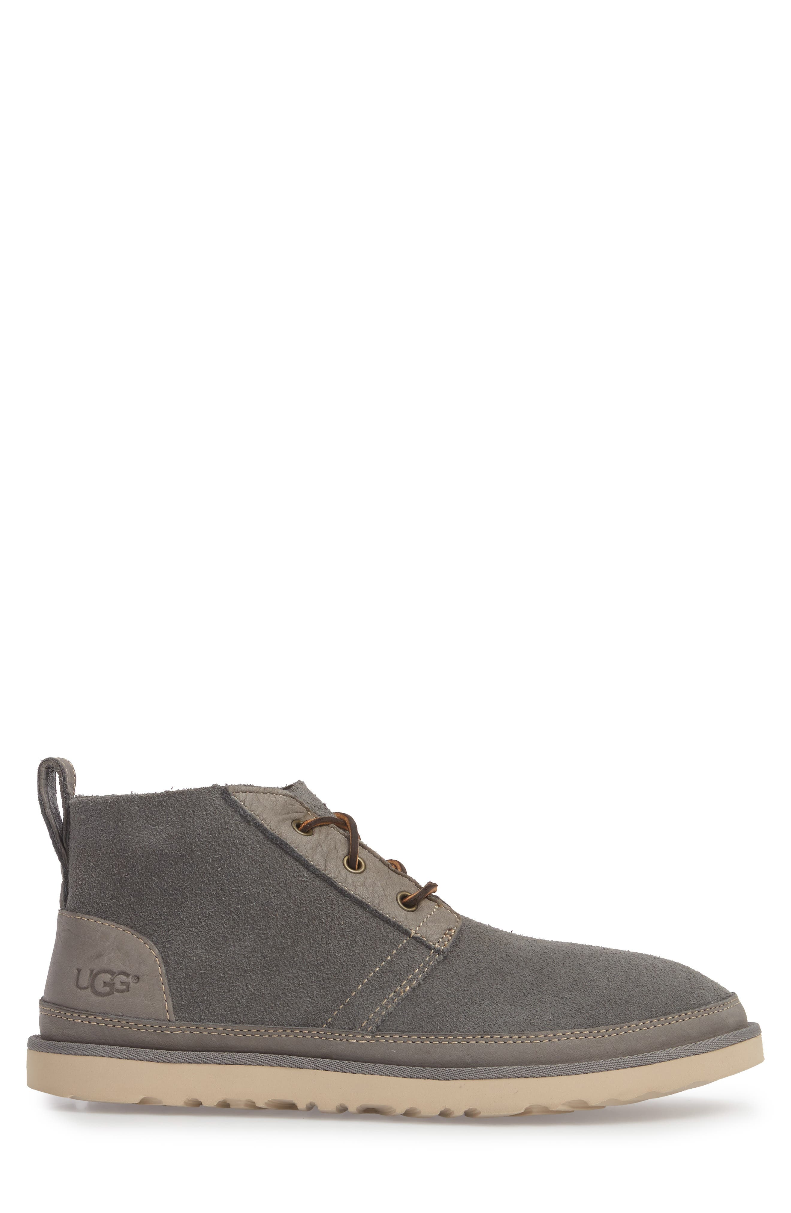 Neumel Unlined Chukka Boot,                             Alternate thumbnail 3, color,                             CHARCOAL LEATHER