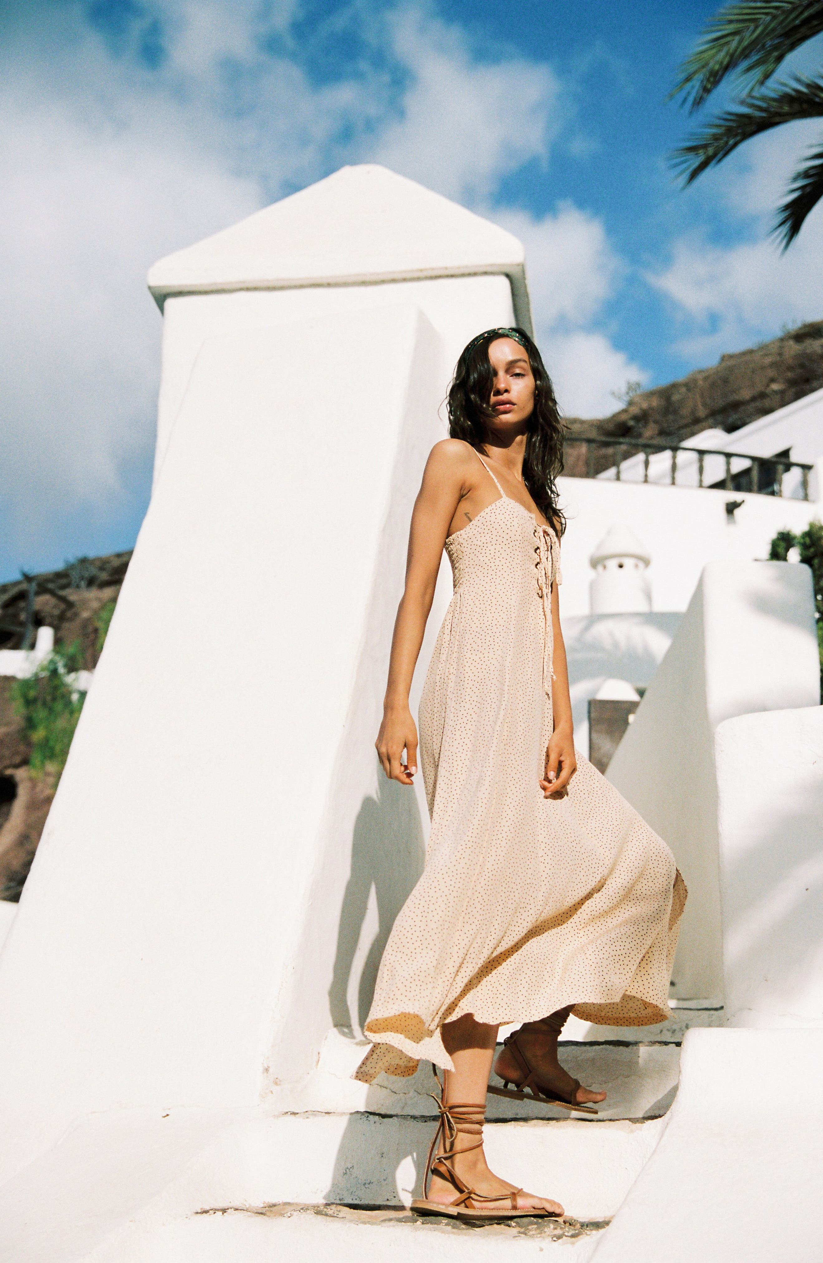 Mirador Lace-Up Midi Dress,                             Alternate thumbnail 5, color,                             900