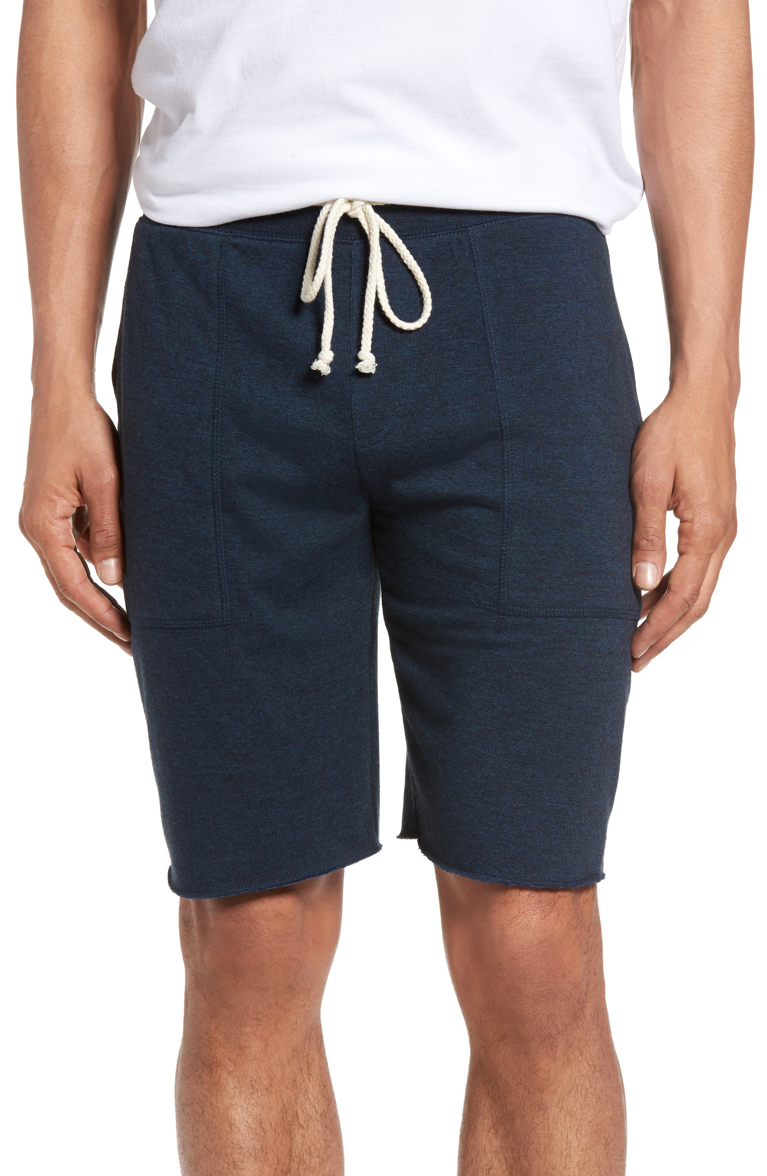 Fleece Shorts,                         Main,                         color, NAVY PEACOAT