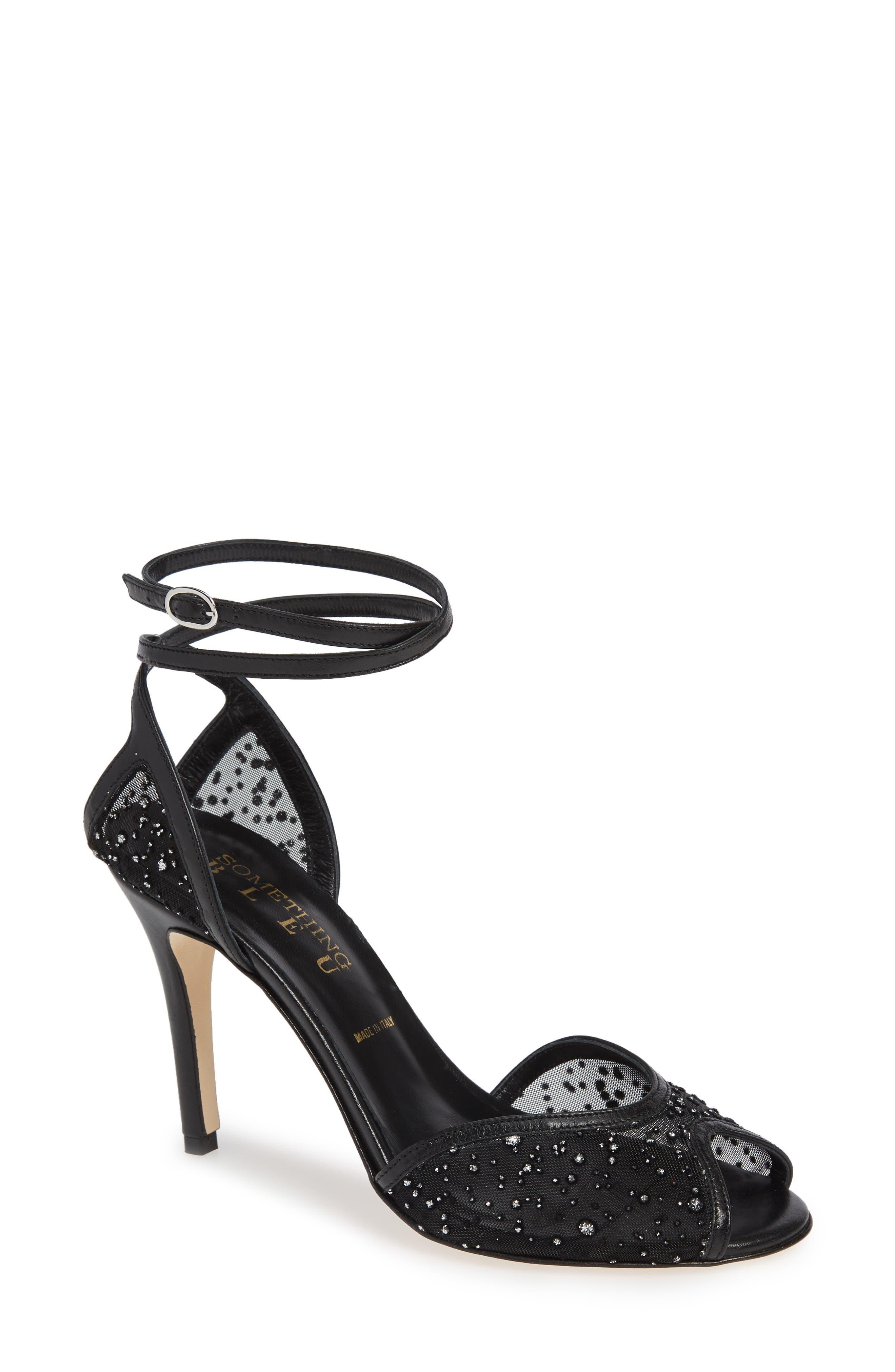 Something Bleu Hope Crystal Embellished Sandal, Black
