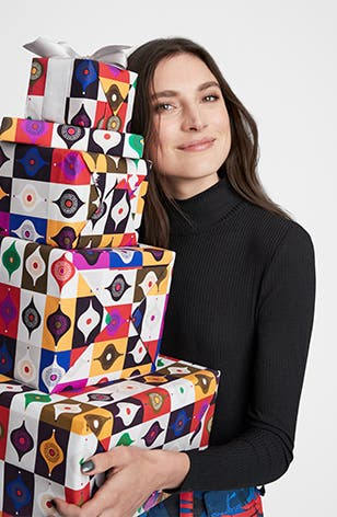 Free gift wrapping in stores.