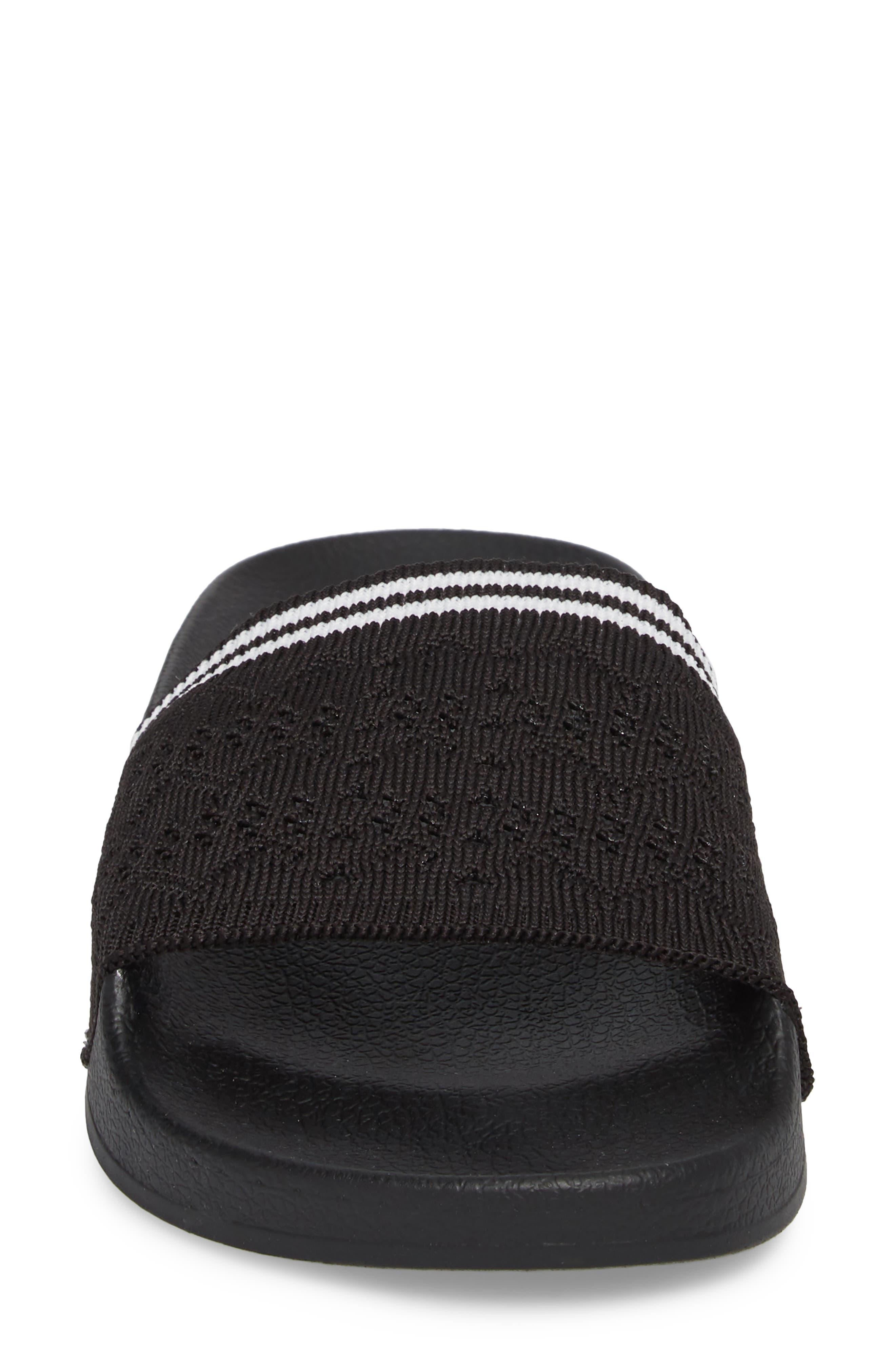 Vibe Sock Knit Slide Sandal,                             Alternate thumbnail 4, color,                             001