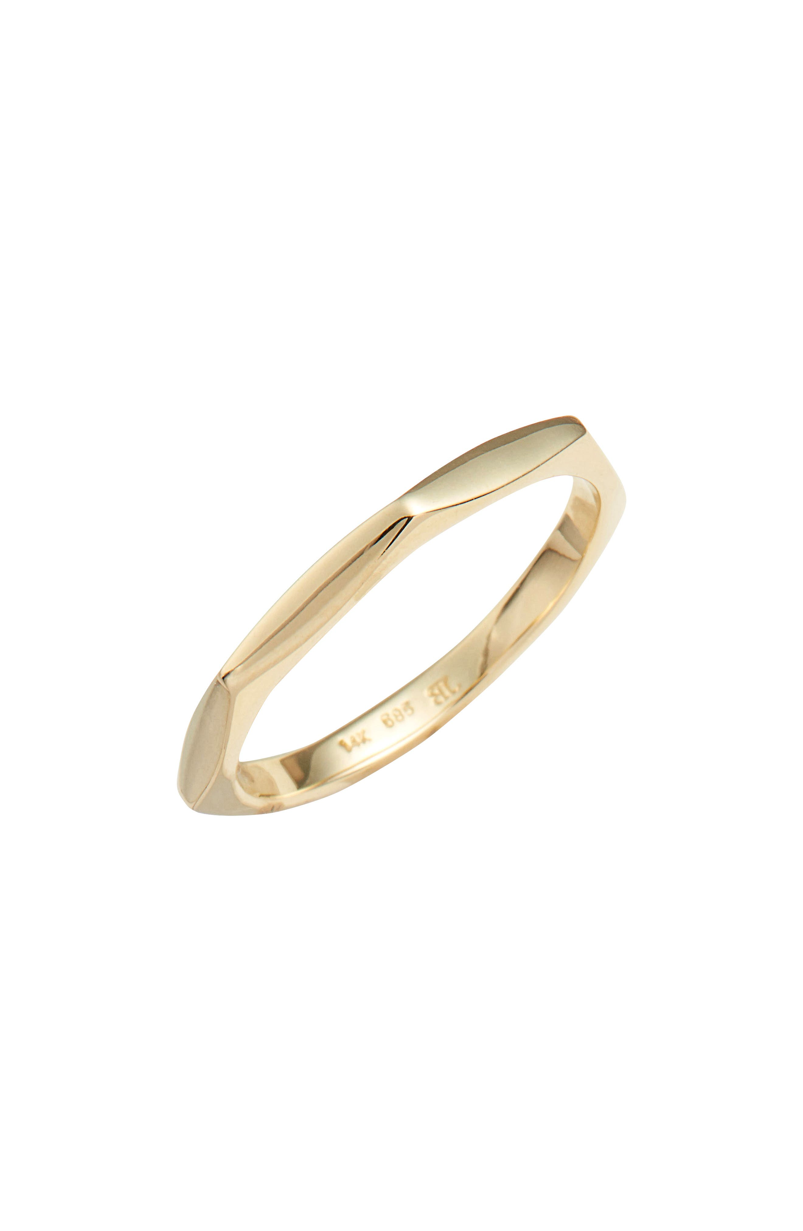 Geometric Band,                         Main,                         color, YELLOW GOLD