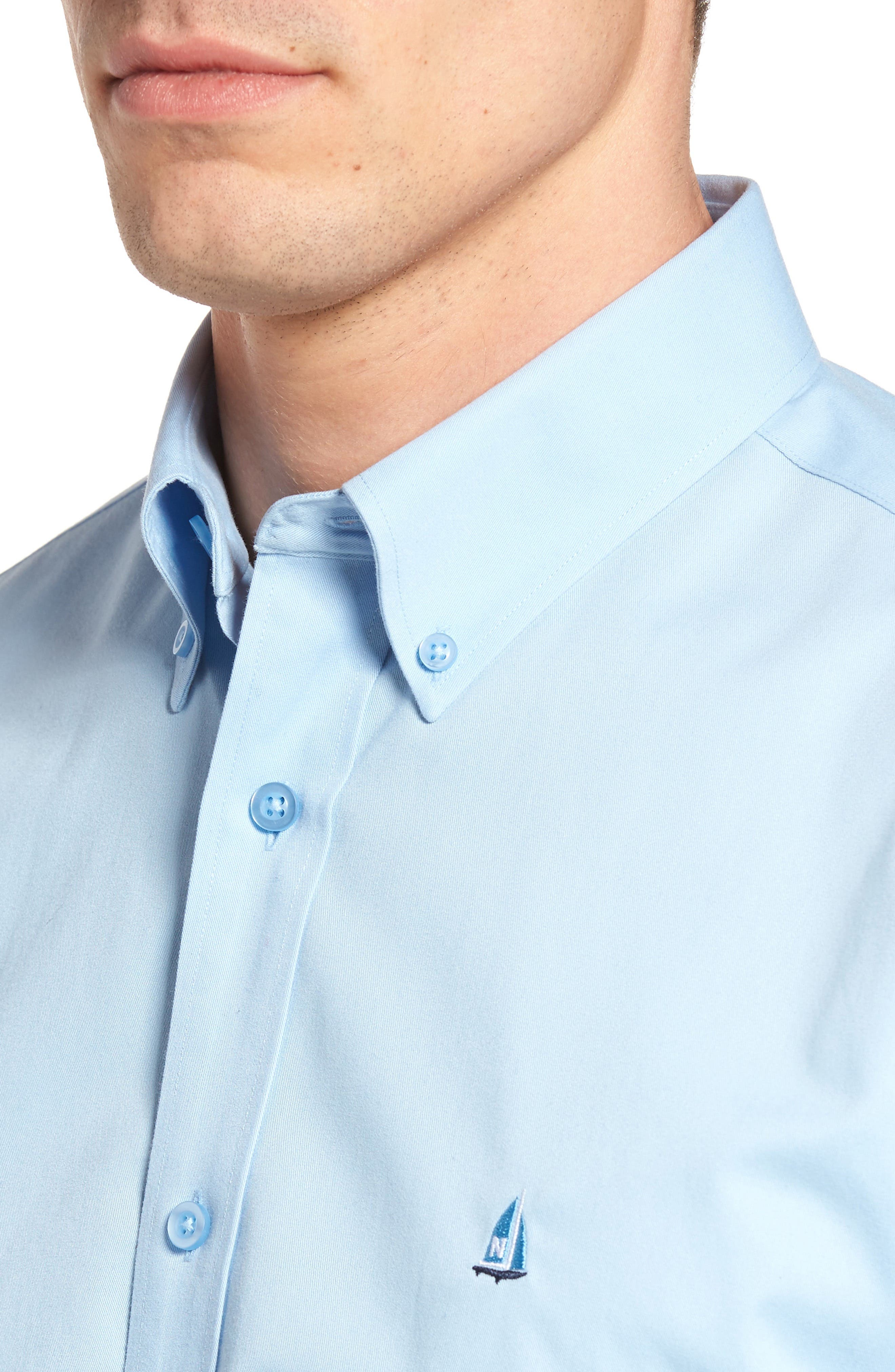 Smartcare<sup>™</sup> Traditional Fit Twill Boat Shirt,                             Alternate thumbnail 148, color,