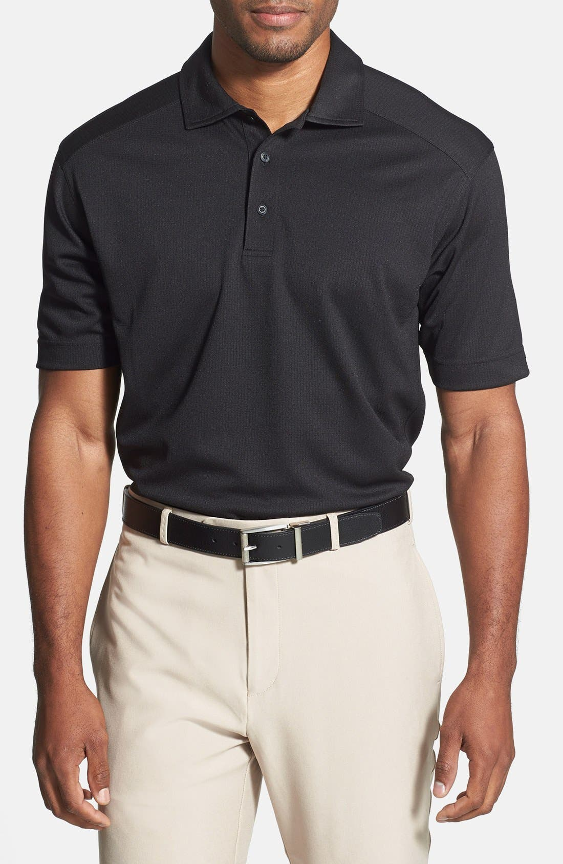 'Genre' DryTec Moisture Wicking Polo,                         Main,                         color, BLACK