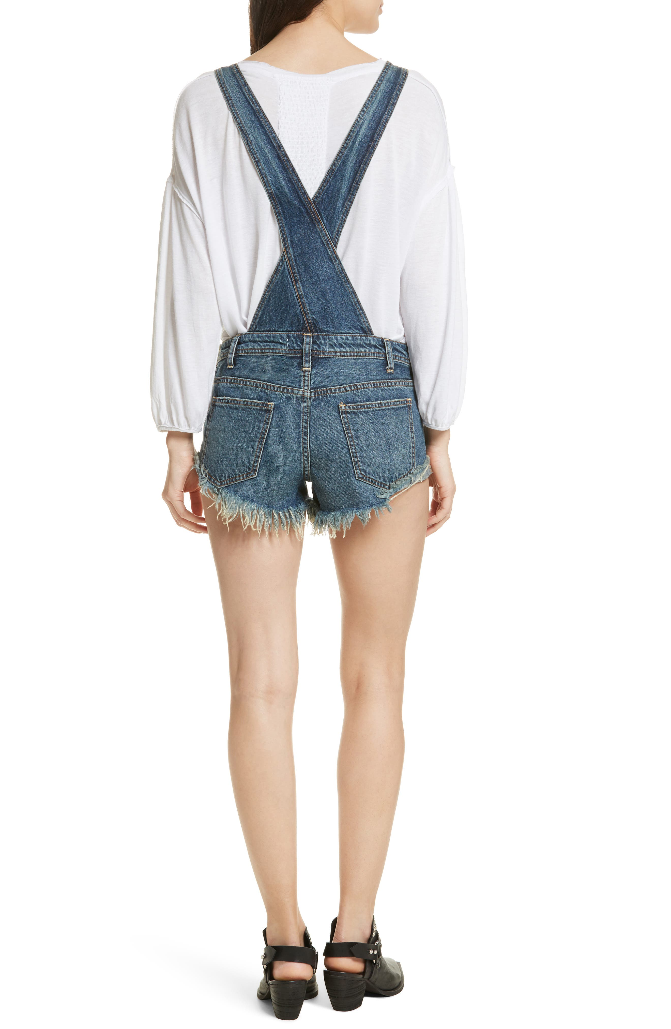 FREE PEOPLE,                             Summer Babe Short Overalls,                             Alternate thumbnail 2, color,                             400