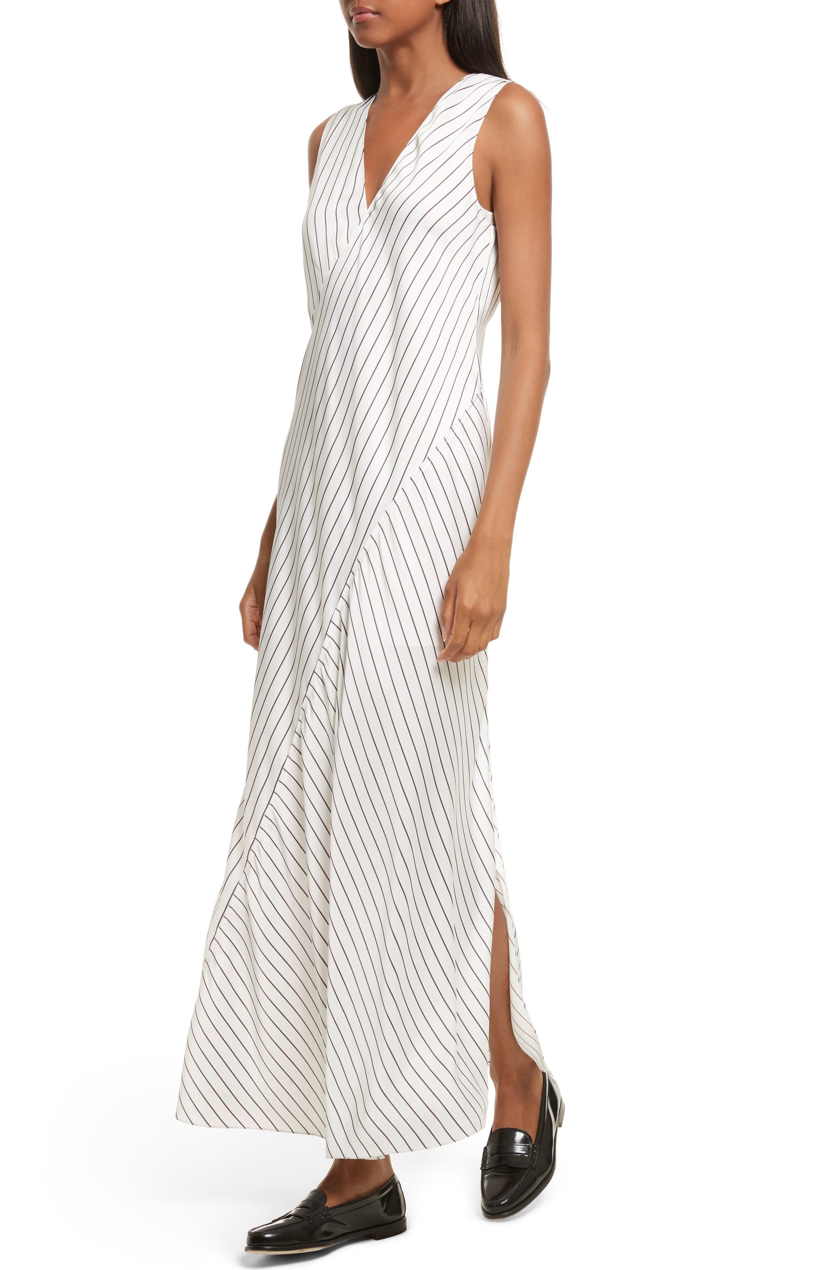 Stripe Maxi Dress,                             Alternate thumbnail 4, color,                             908