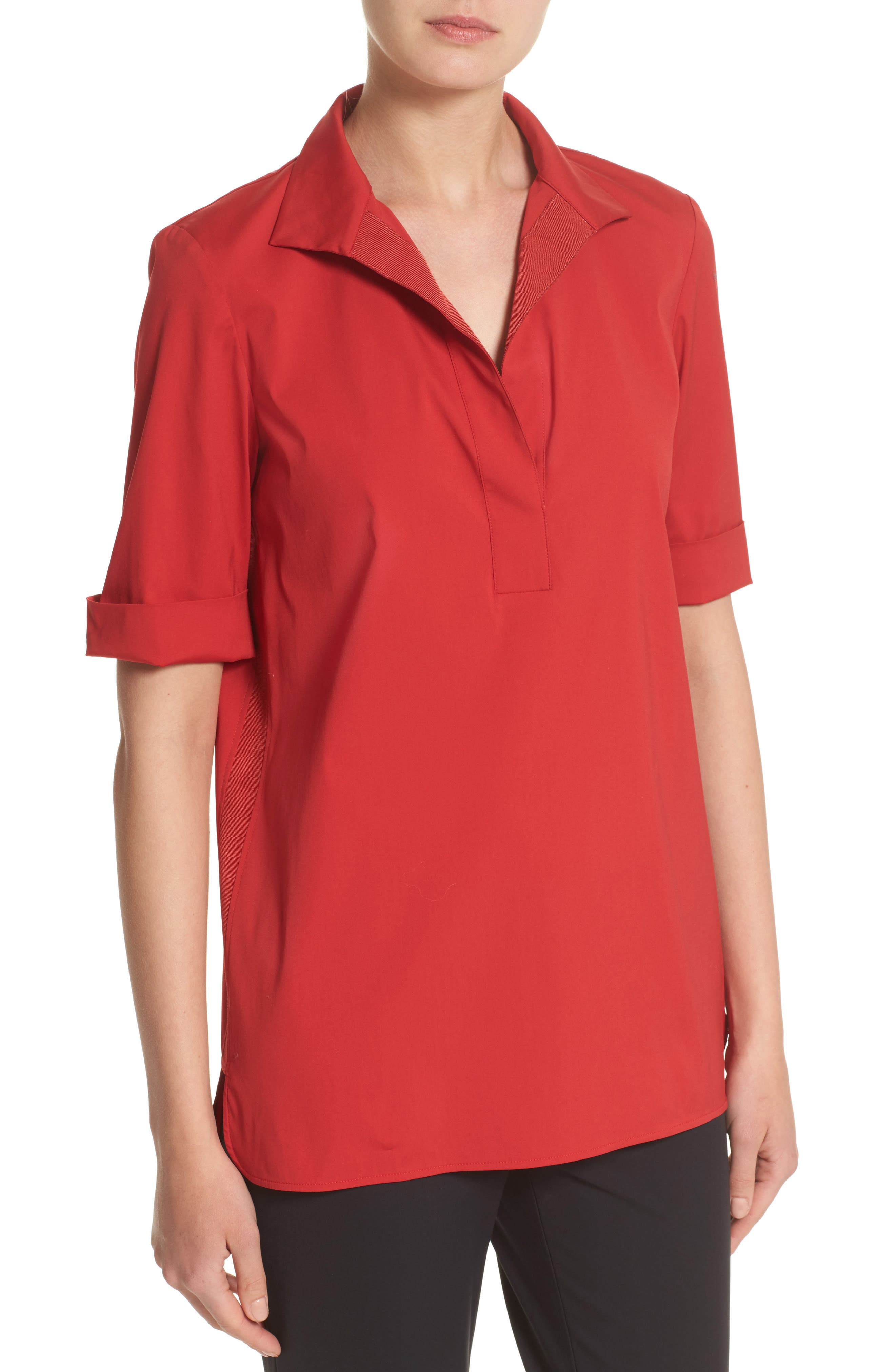 Daley High/Low Blouse,                             Alternate thumbnail 6, color,