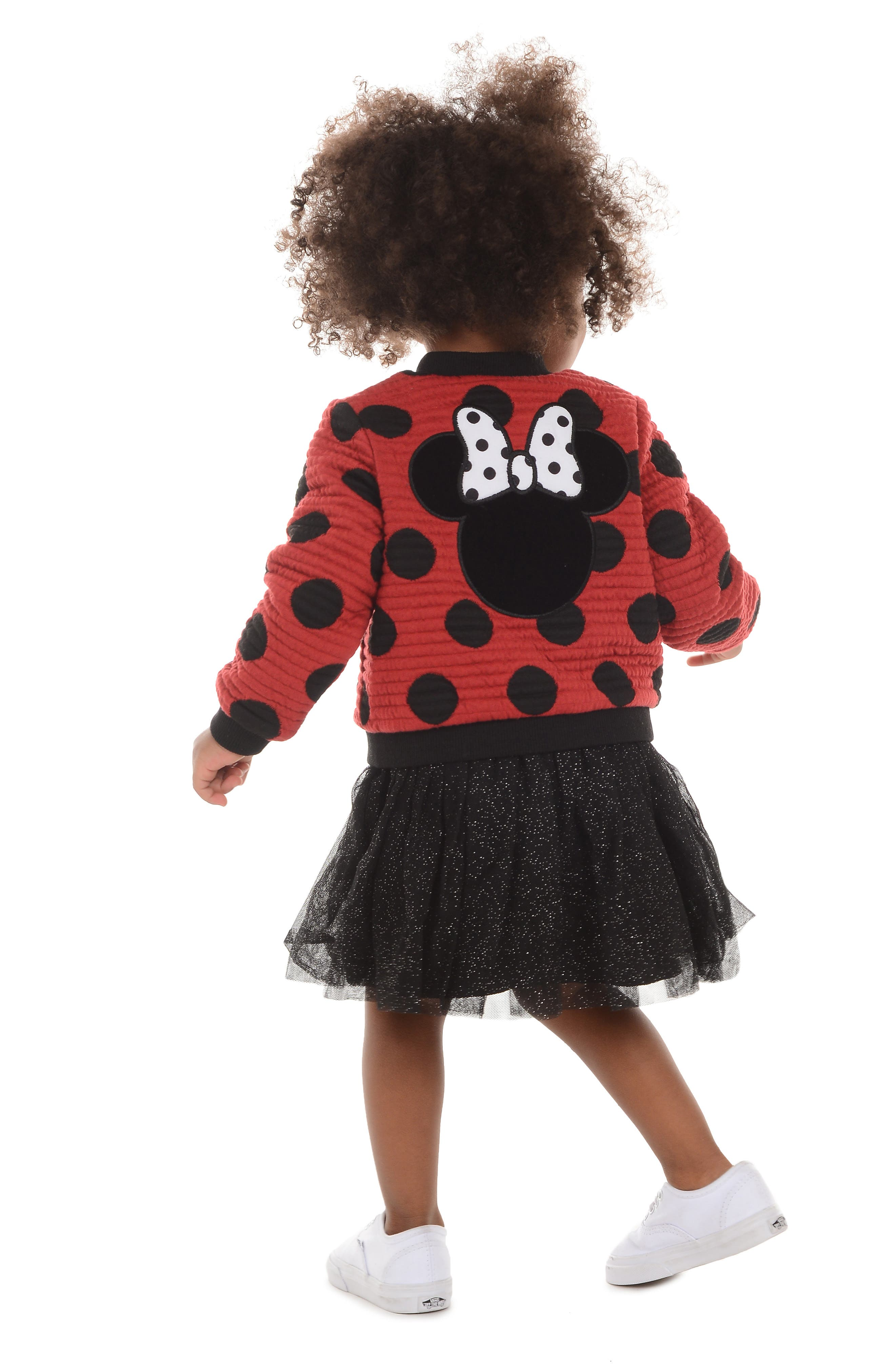 x Disney Minnie Mouse Tutu Dress & Reversible Bomber Jacket Set,                             Alternate thumbnail 6, color,                             619