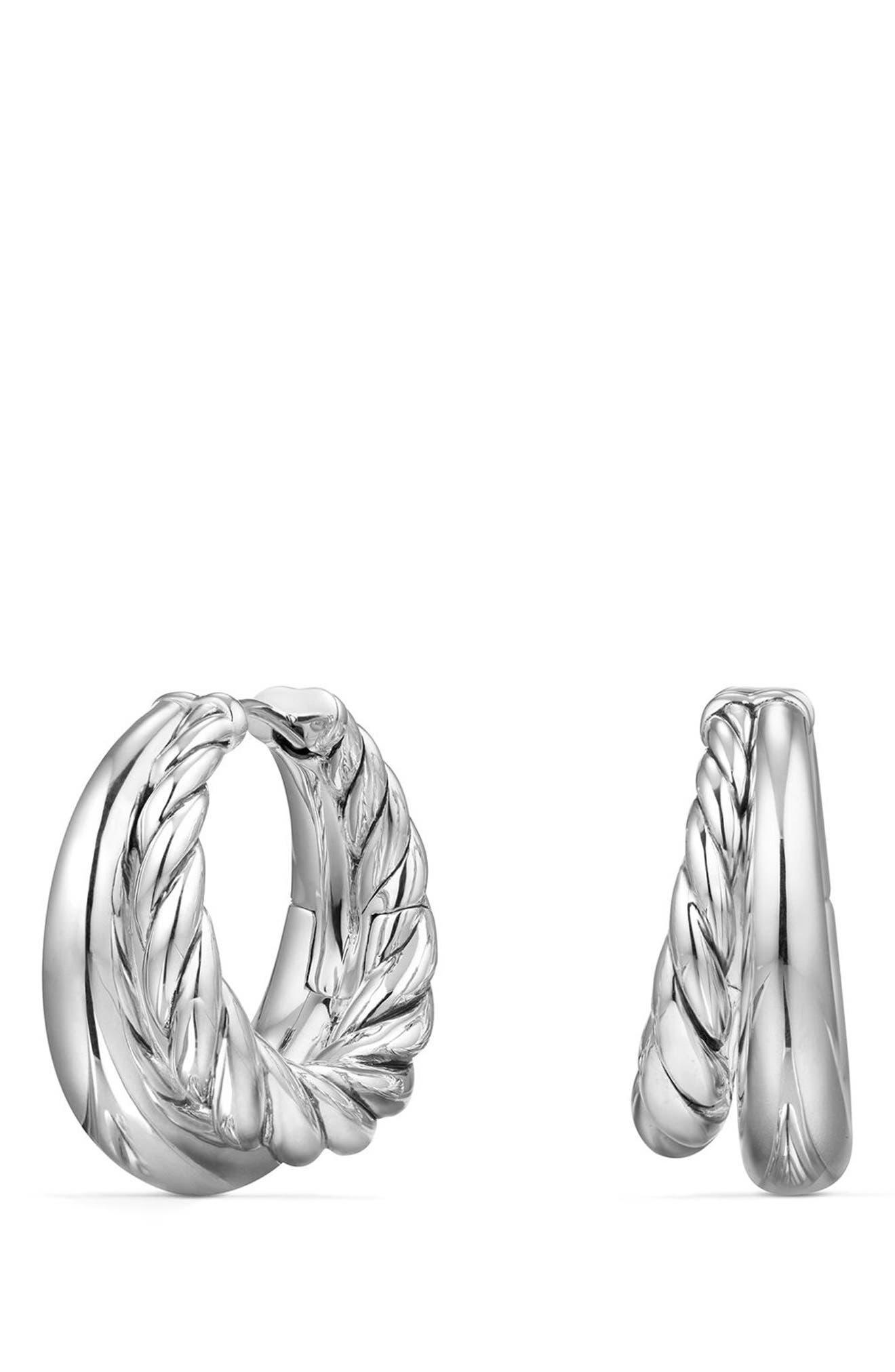 Pure Form Hoop Earrings, 25.5mm,                             Main thumbnail 1, color,                             SILVER