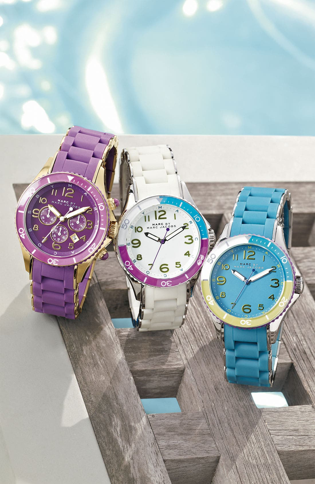 'Rock' Chronograph Silicone Bracelet Watch, 40mm,                             Alternate thumbnail 20, color,