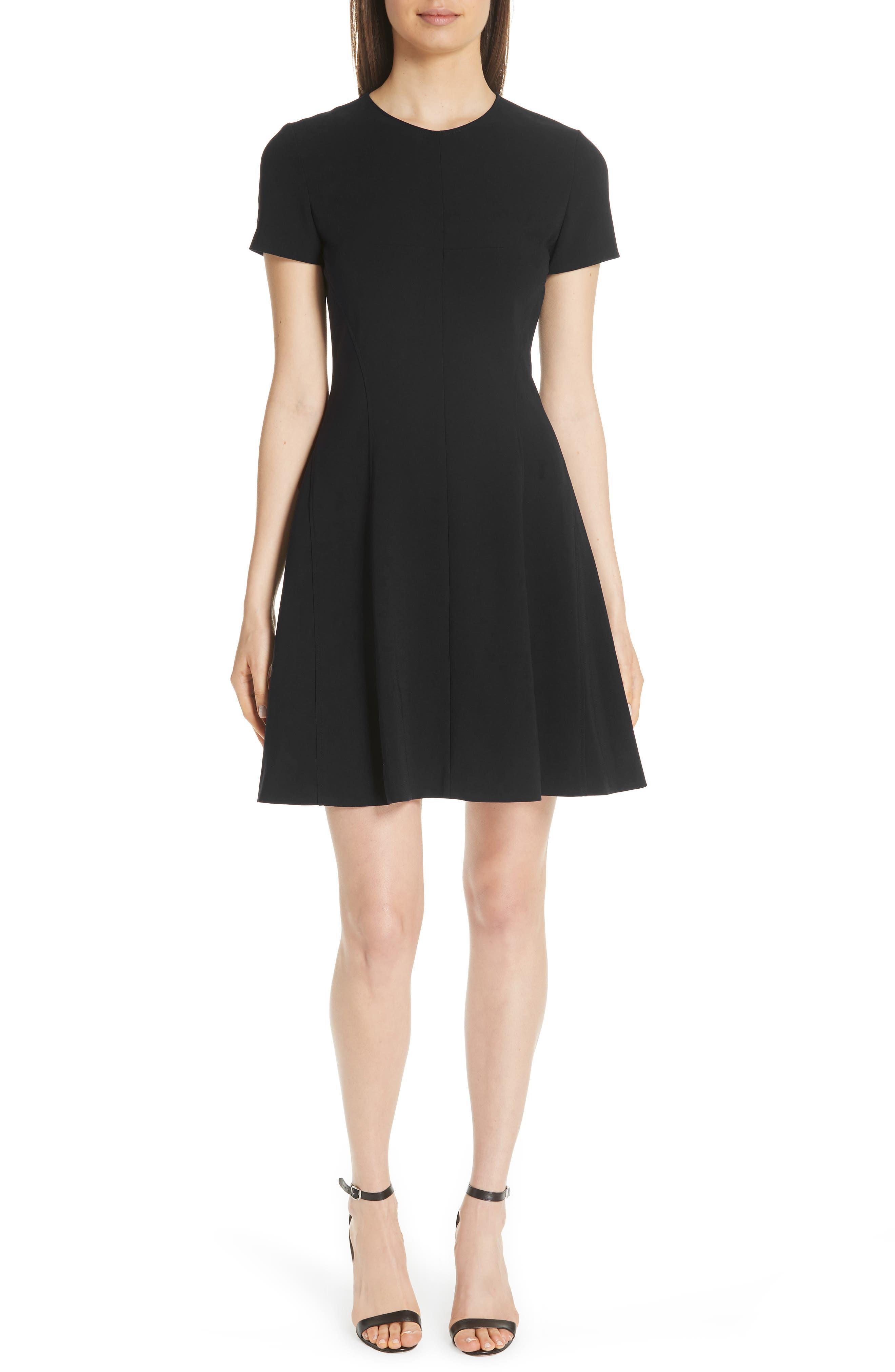 Modern Seamed Dress,                             Main thumbnail 1, color,                             001