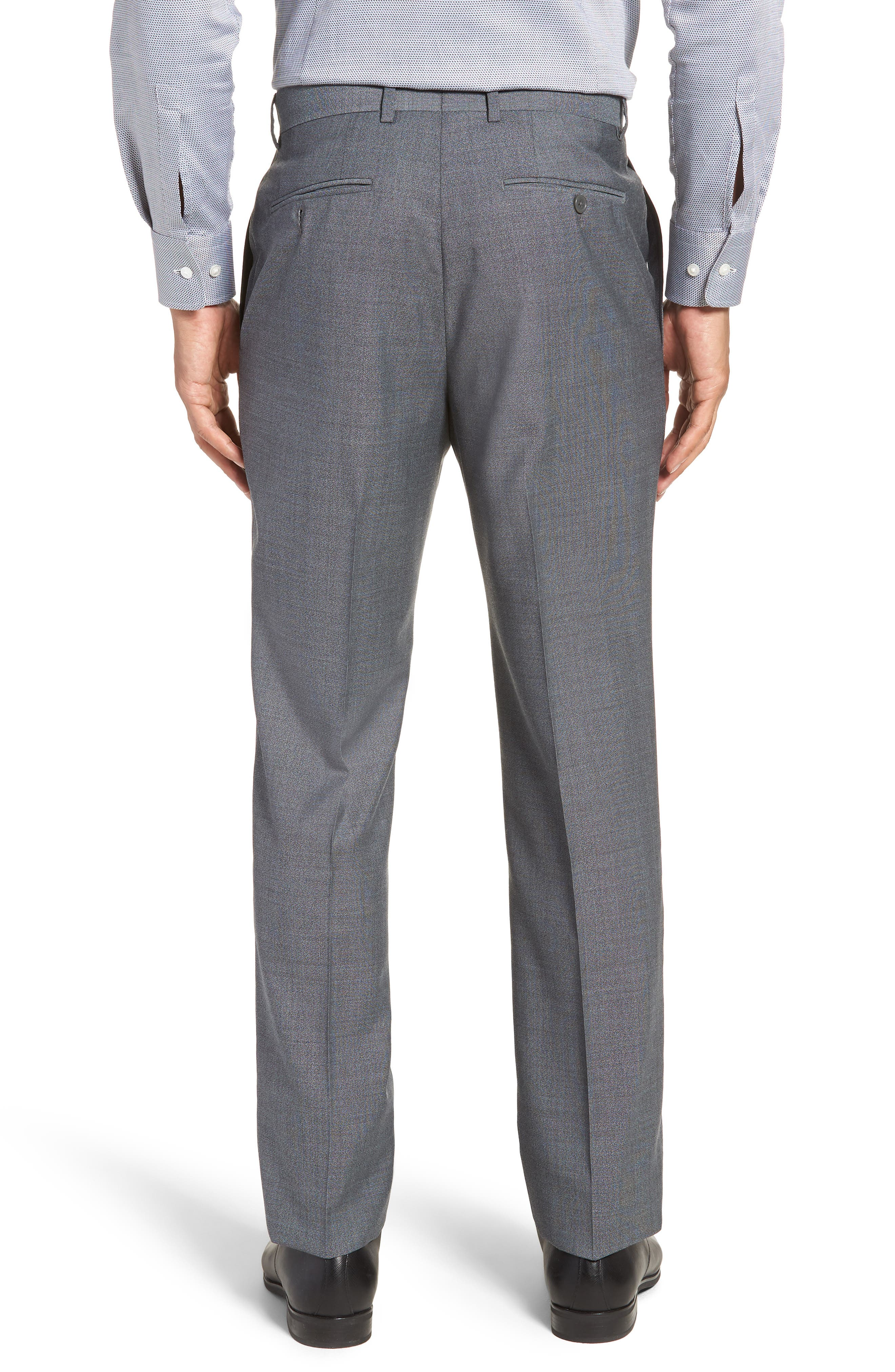 SANTORELLI,                             Flat Front Solid Wool Trousers,                             Alternate thumbnail 2, color,                             020