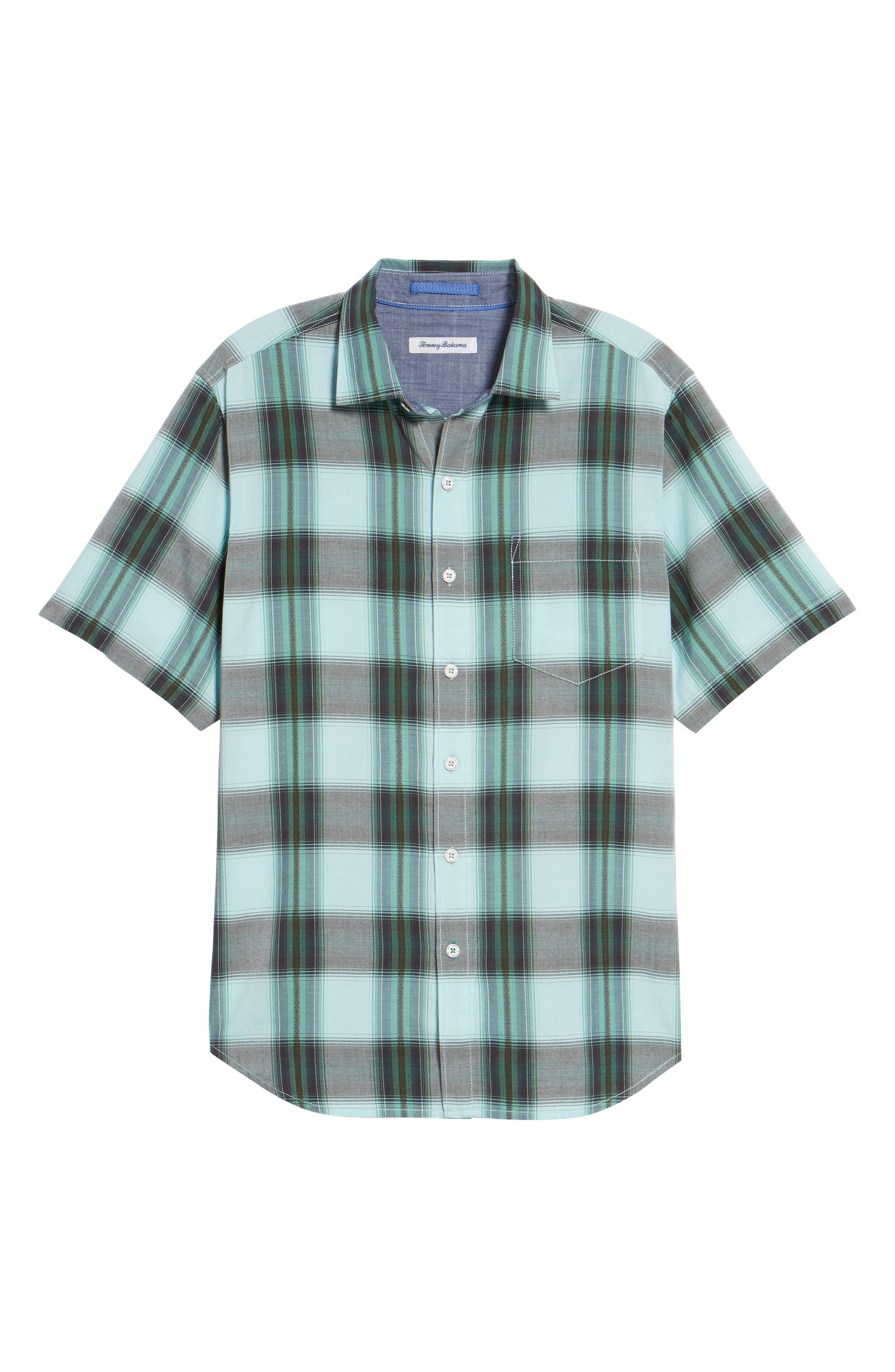 Biscayne Plaid Regular Fit Sport Shirt,                             Alternate thumbnail 6, color,                             350