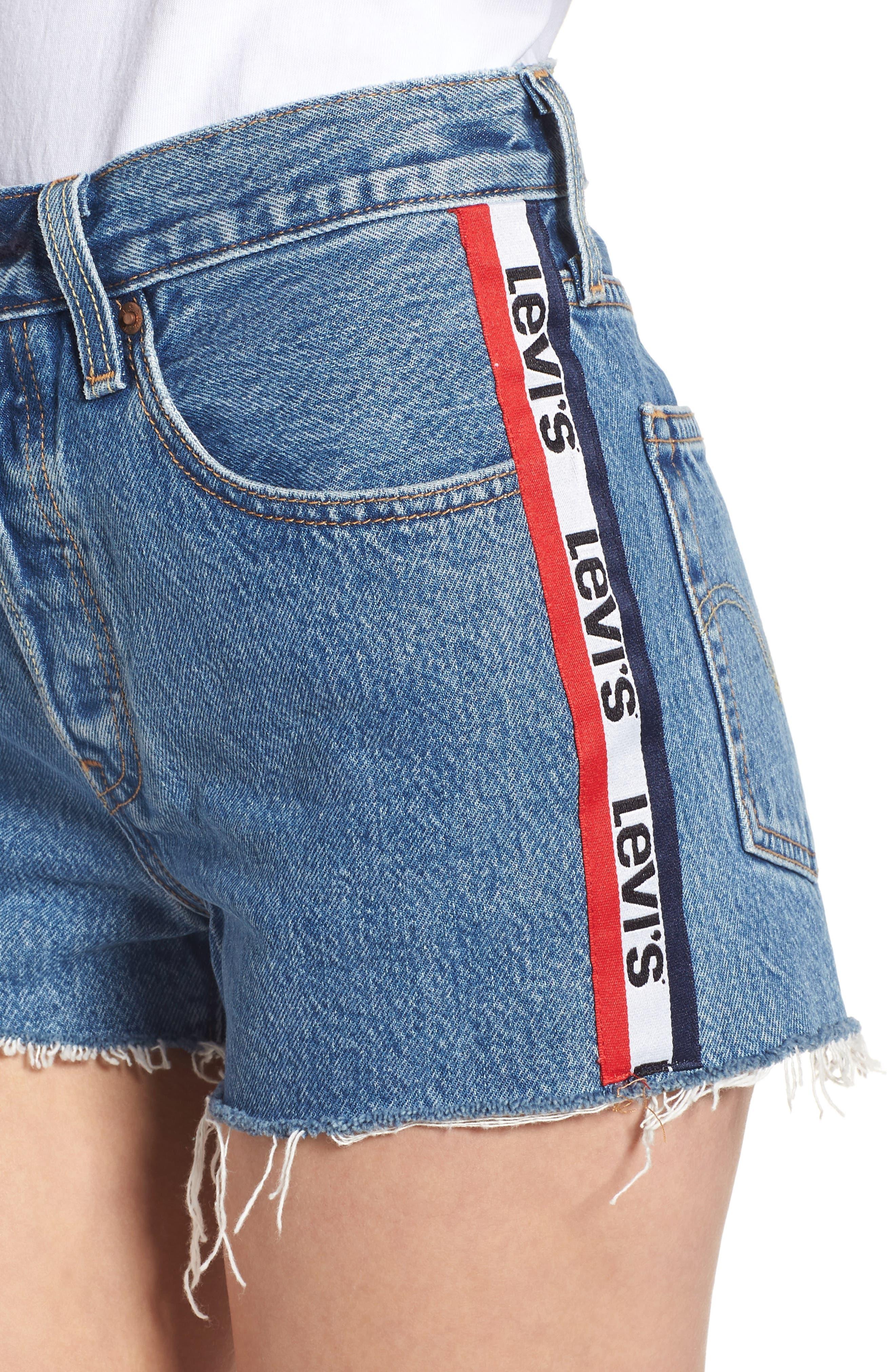 501<sup>®</sup> Cutoff Denim Shorts,                             Alternate thumbnail 4, color,                             420