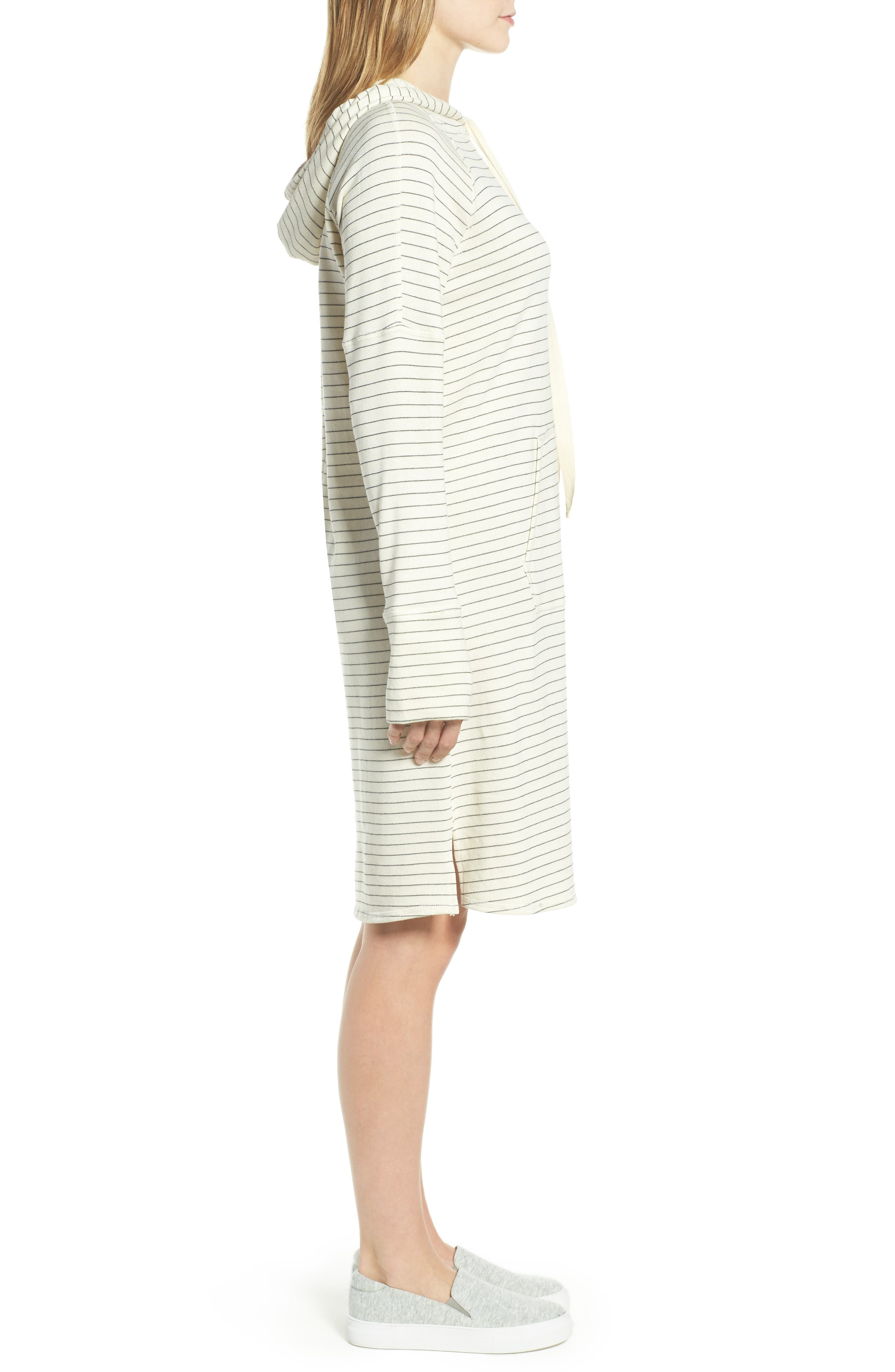 Hooded French Terry Dress,                             Alternate thumbnail 7, color,