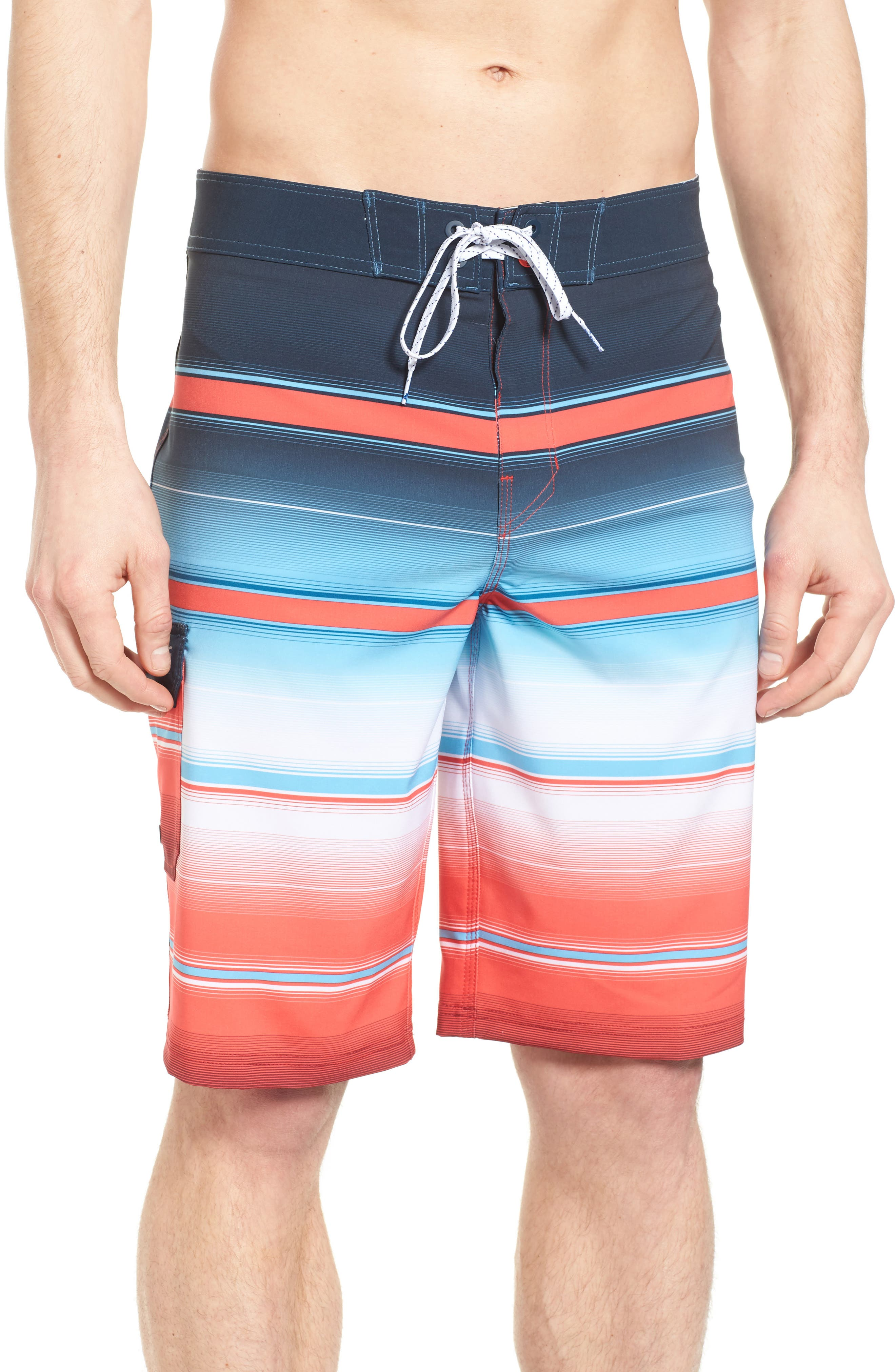 All Day X Stripe Board Shorts,                             Main thumbnail 4, color,