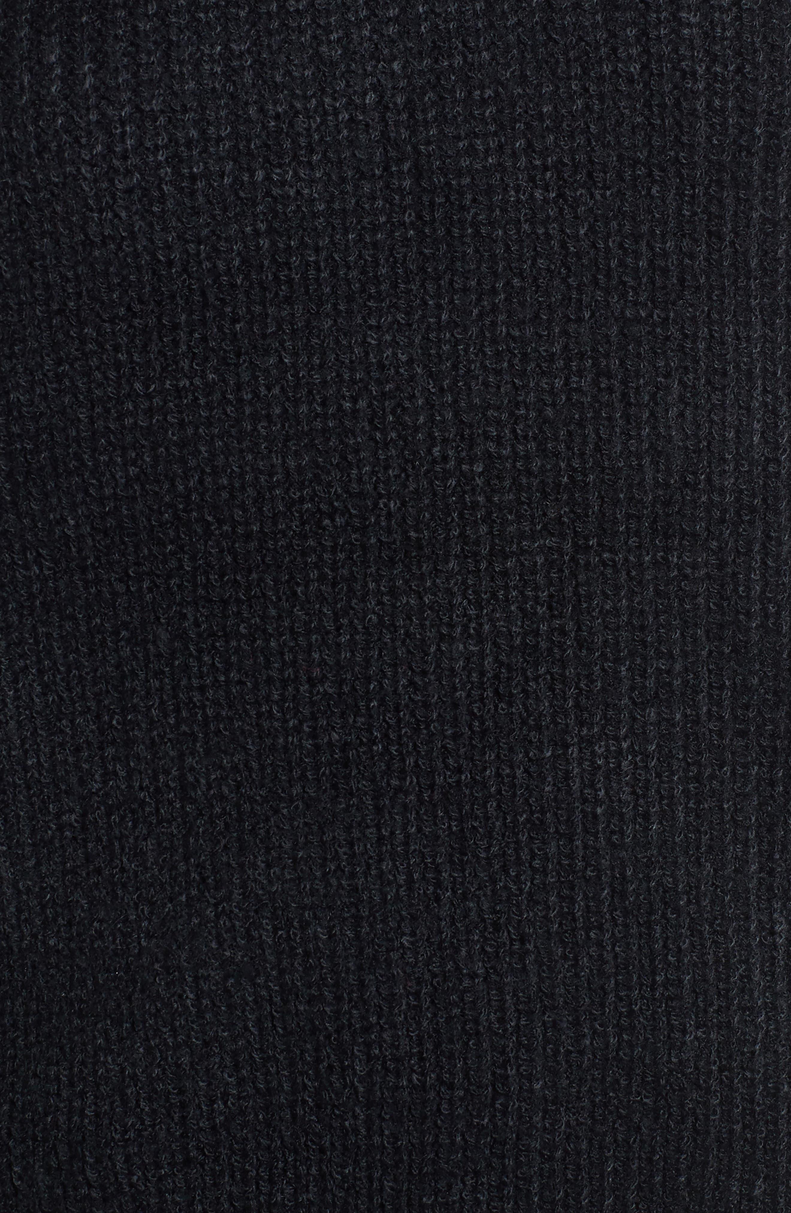 Cutout Turtleneck Sweater,                             Alternate thumbnail 5, color,                             001