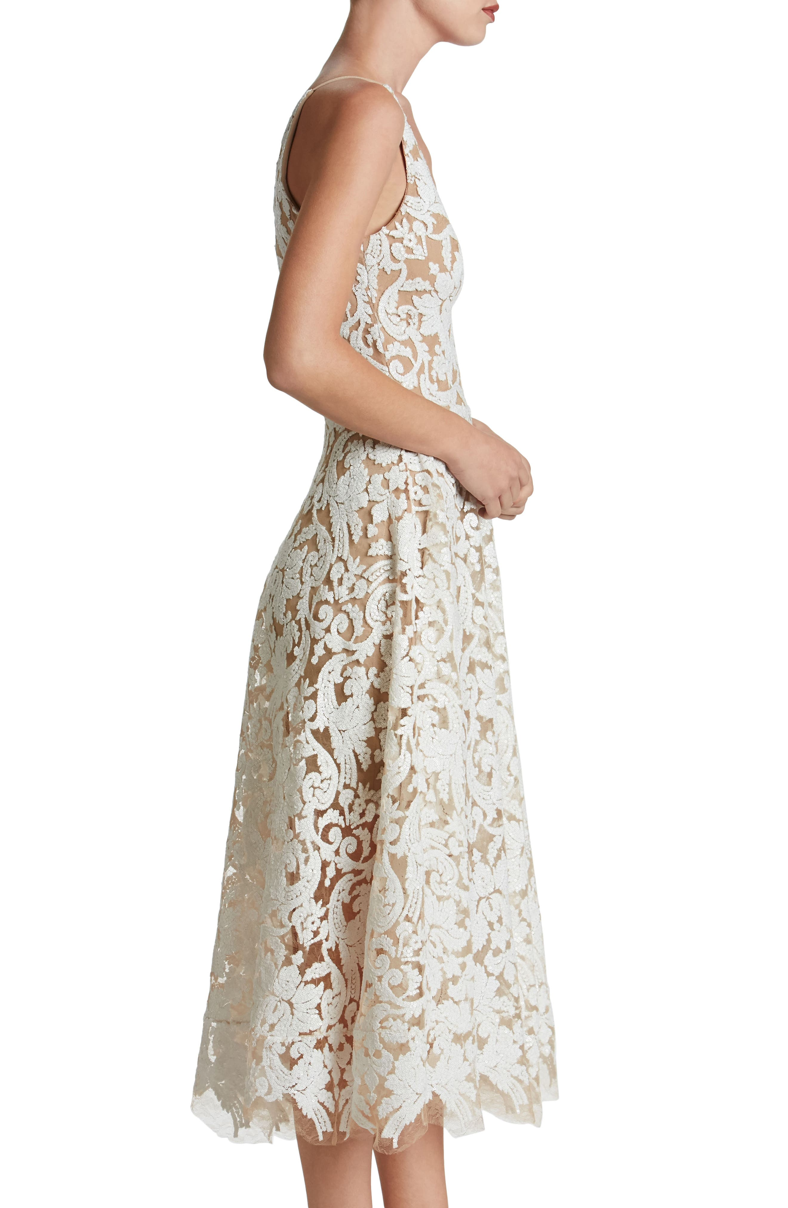 Blair Embellished Fit & Flare Dress,                             Alternate thumbnail 17, color,