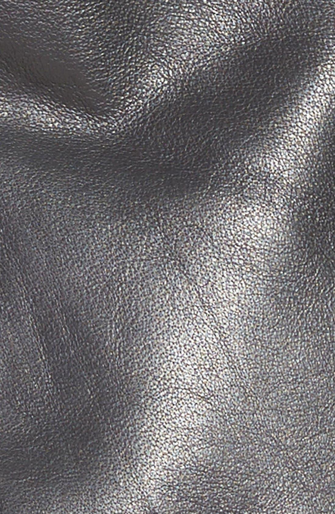 'Kirwin' Zip Front Leather Jacket,                             Alternate thumbnail 3, color,                             001