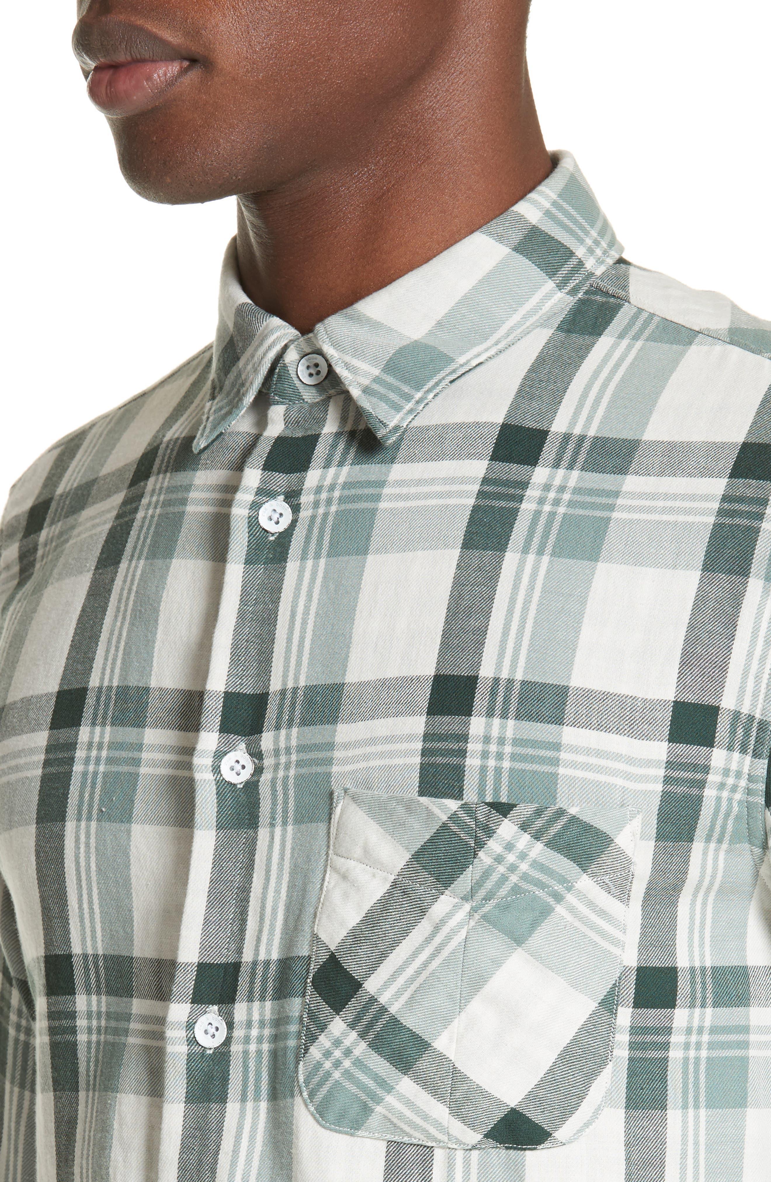Plaid Woven Shirt,                             Alternate thumbnail 4, color,                             320