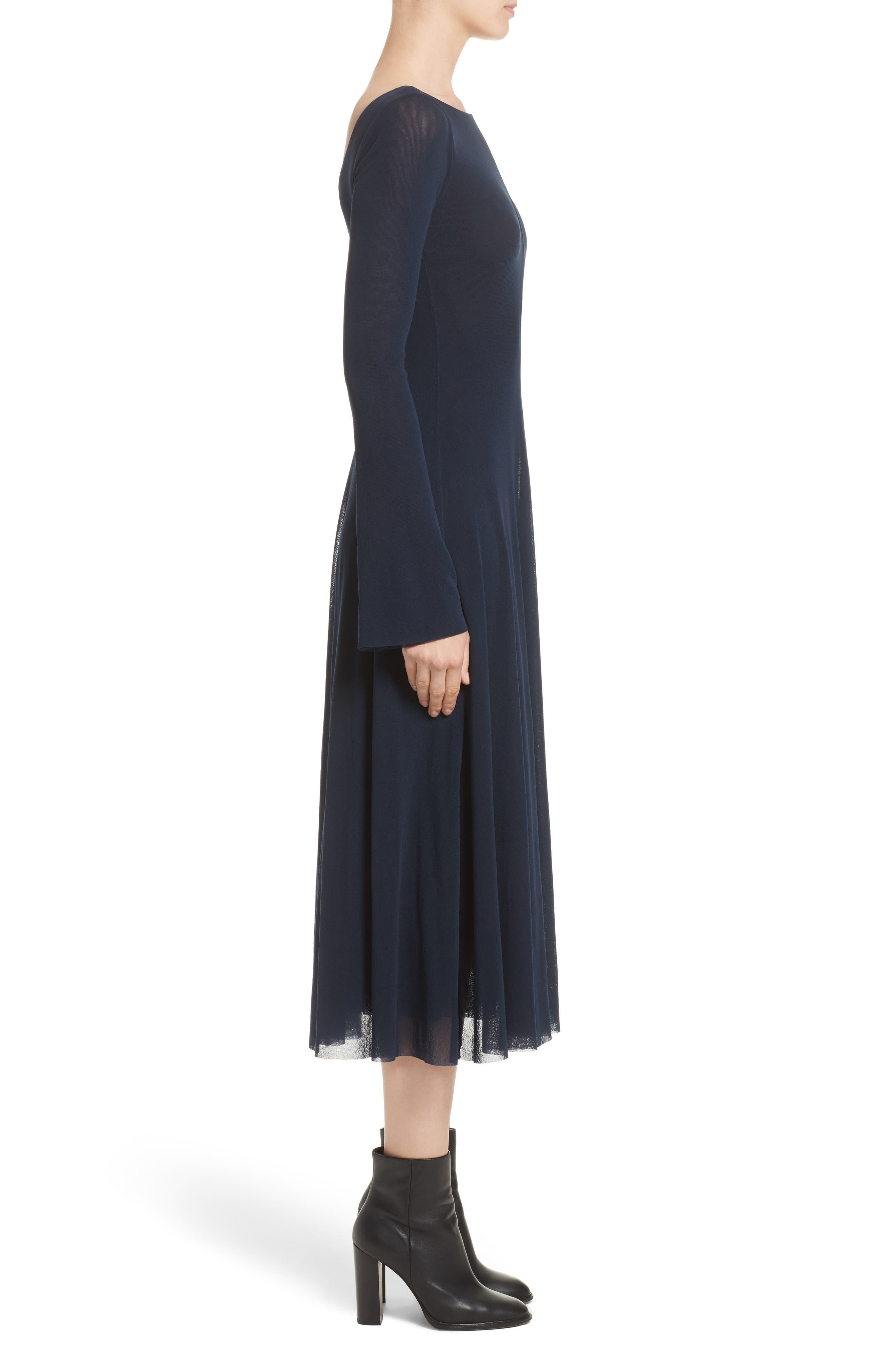 Reversible Tulle Dress,                             Alternate thumbnail 4, color,                             001