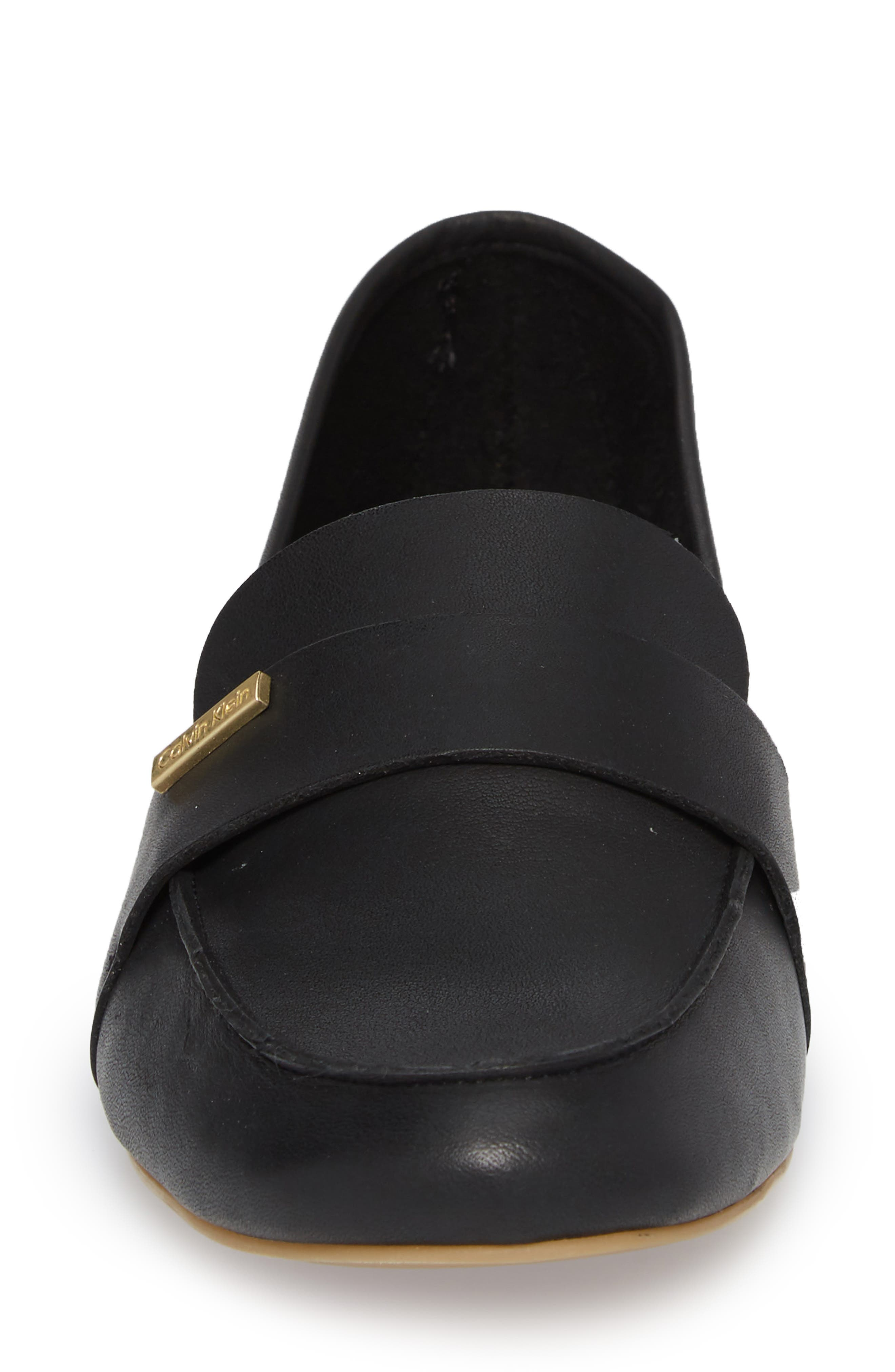Cemmie Loafer,                             Alternate thumbnail 4, color,                             BLACK LEATHER