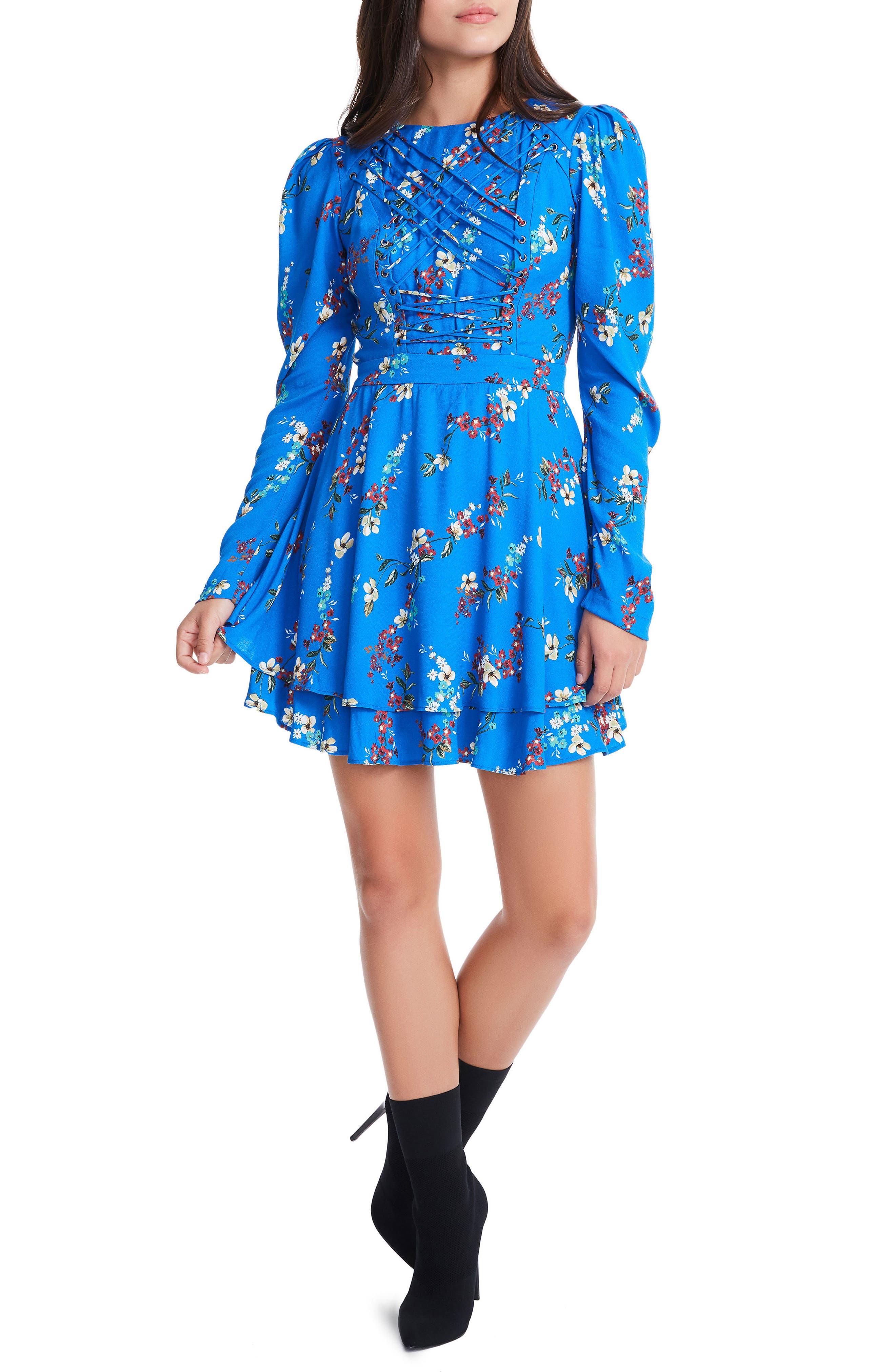 Avery Strappy Babydoll Dress,                             Main thumbnail 2, color,