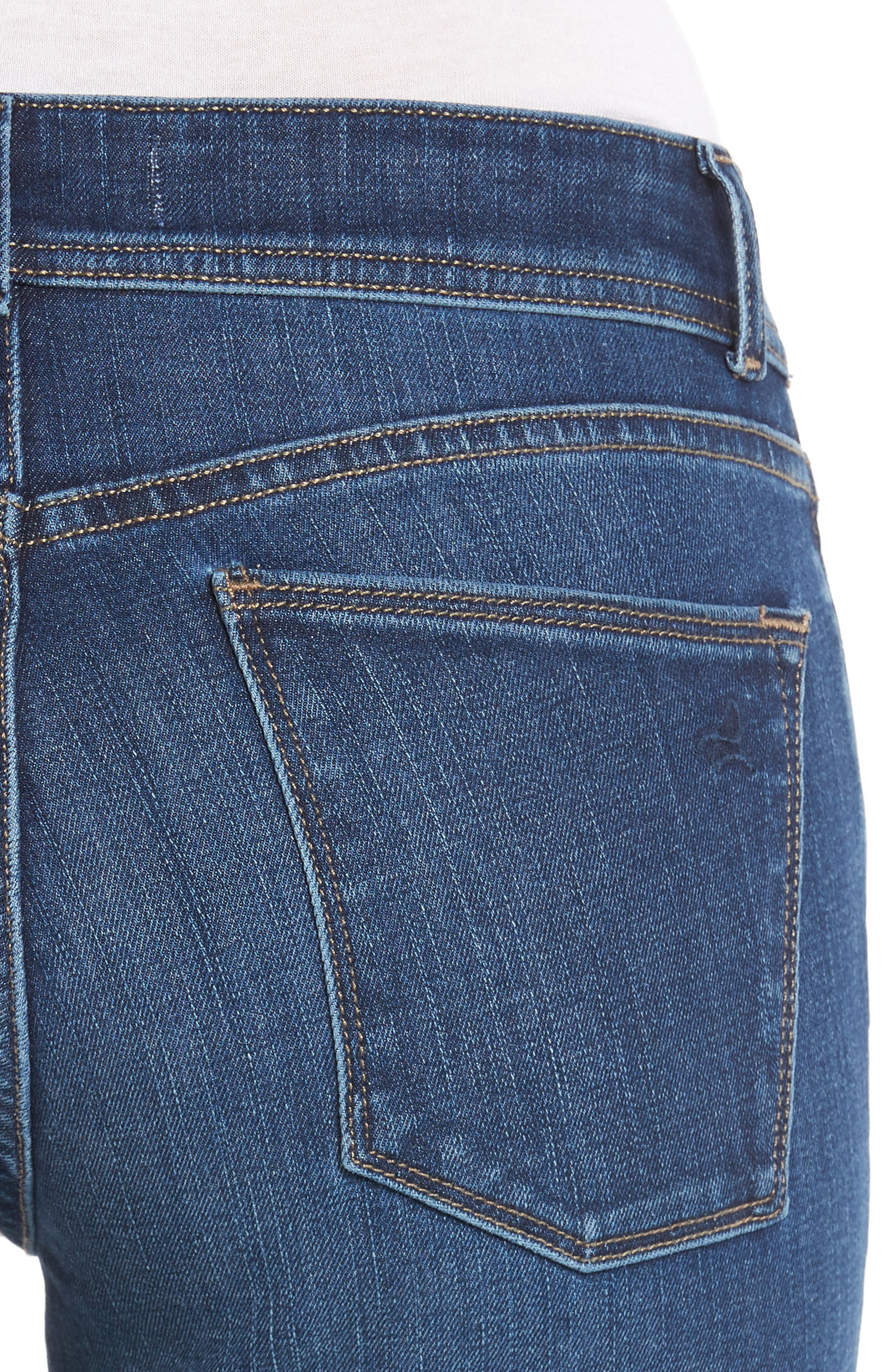 Coco Curvy Straight Leg Jeans,                             Alternate thumbnail 4, color,                             405