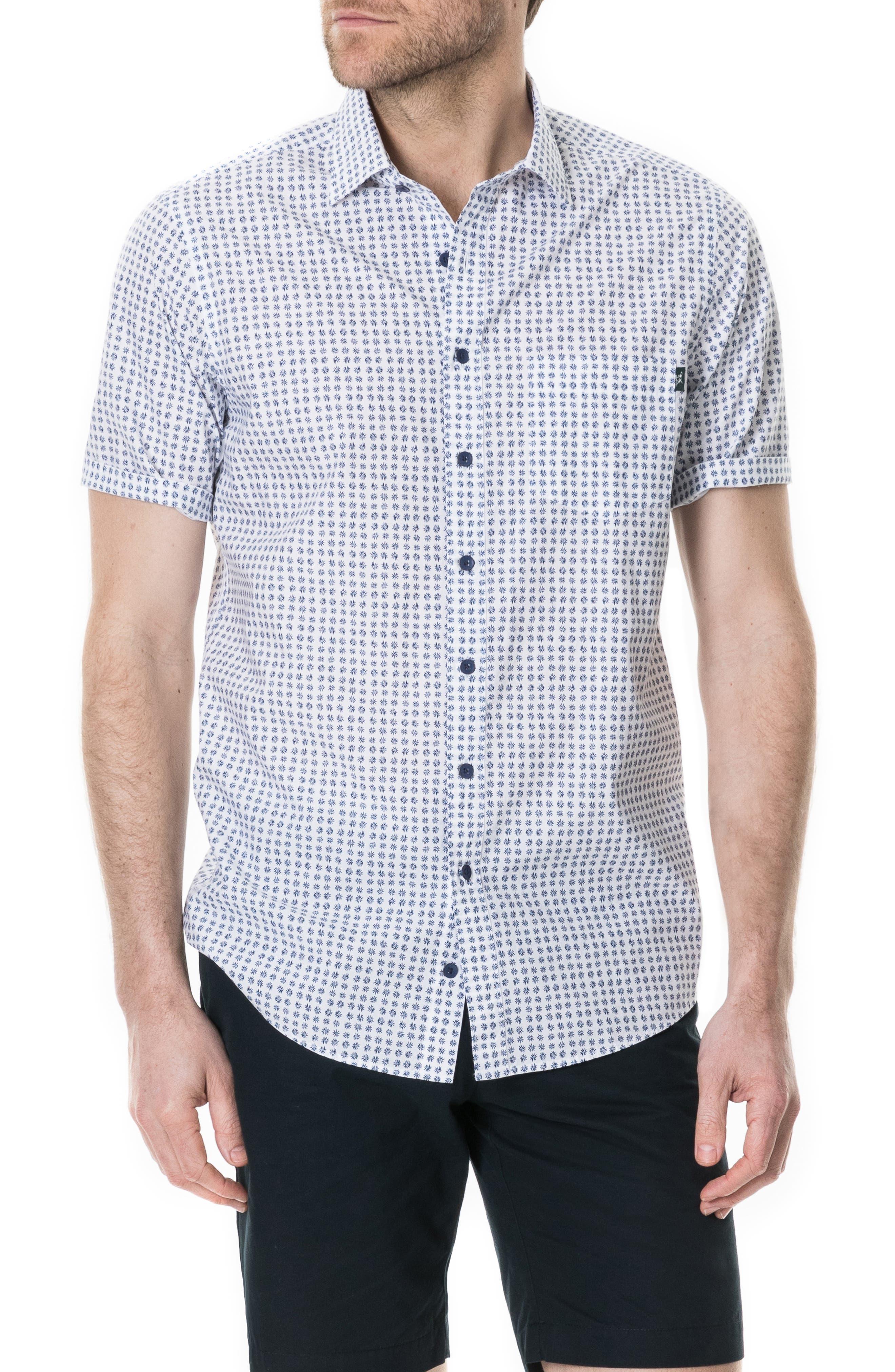 RODD & GUNN,                             Carrington Regular Fit Sport Shirt,                             Main thumbnail 1, color,                             SNOW