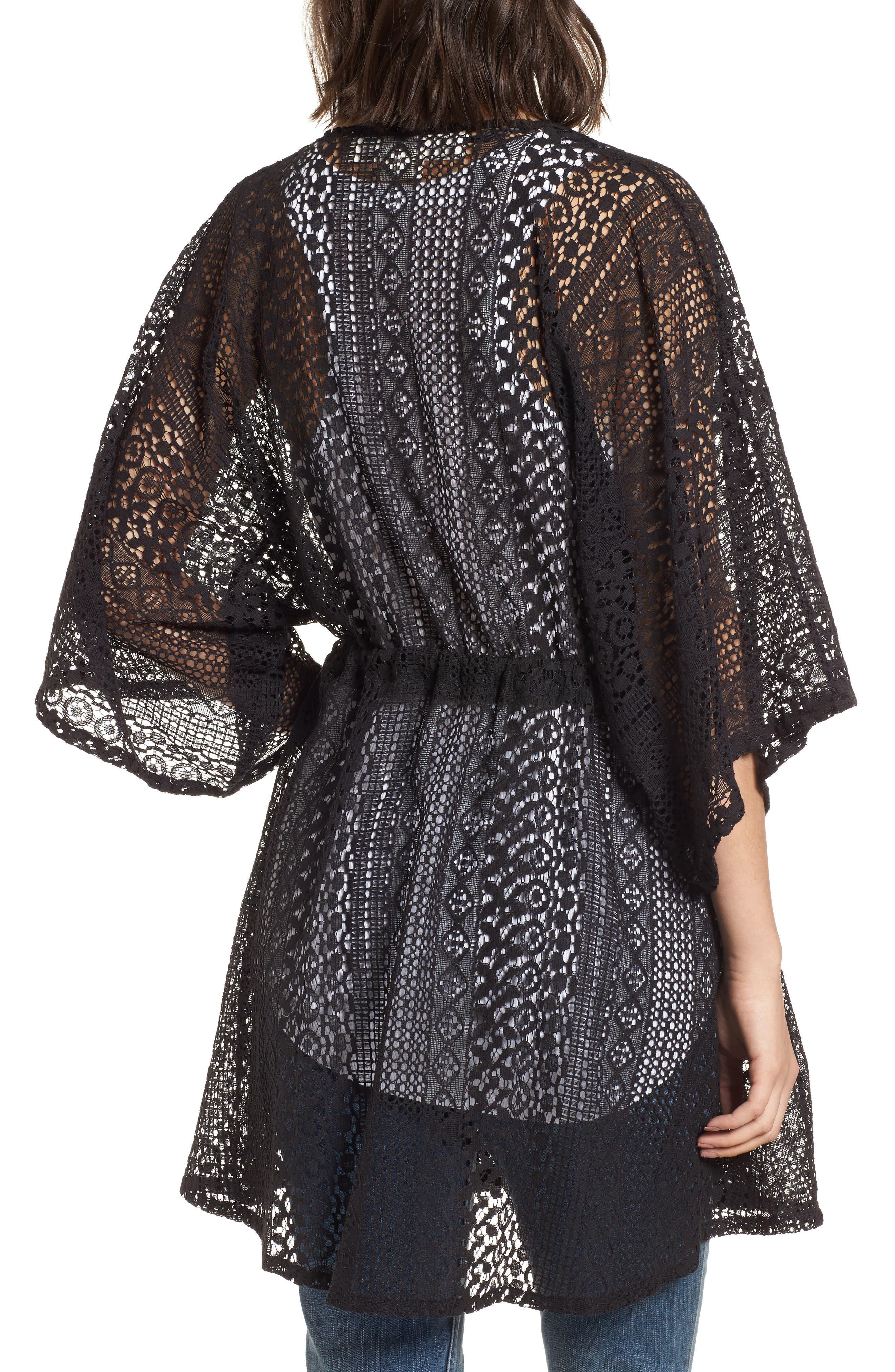 Lace Kimono Pullover,                             Alternate thumbnail 3, color,
