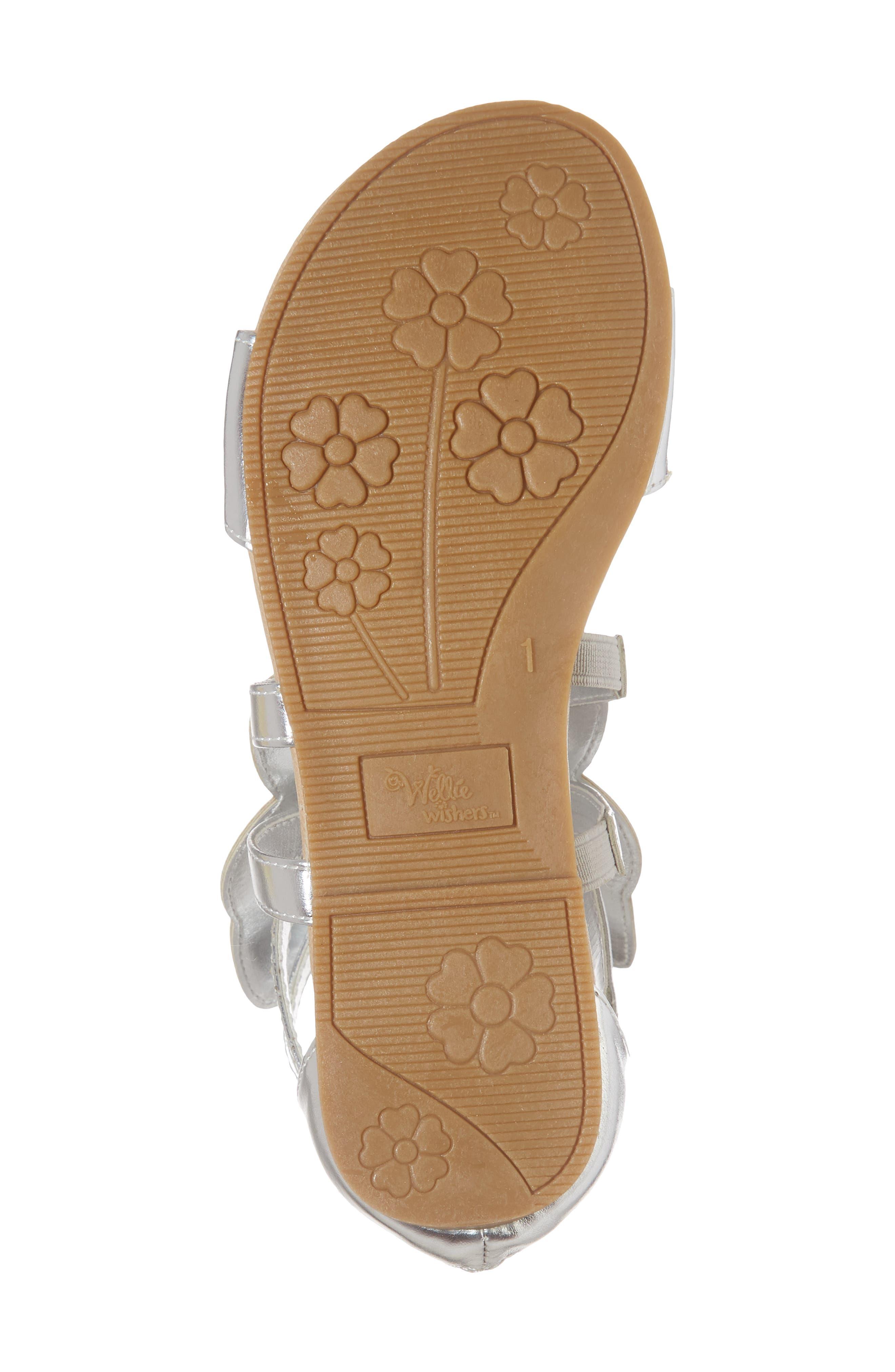 Willa Flutter Metallic Sandal,                             Alternate thumbnail 6, color,                             046