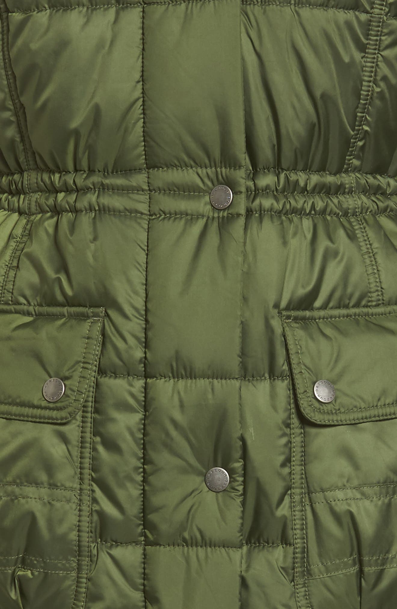 Winterton Water Resistant Hooded Quilted Jacket with Faux Fur Trim,                             Alternate thumbnail 11, color,