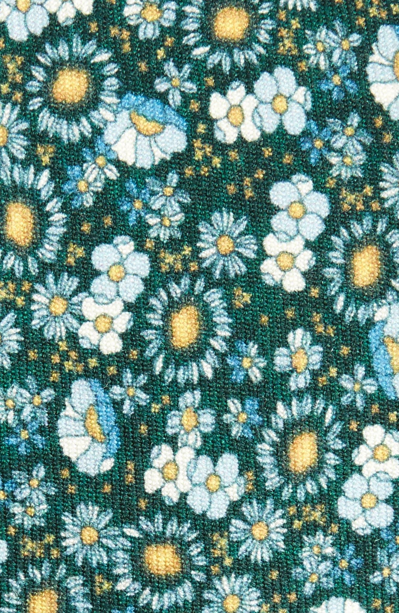 Flower City Wool Skinny Tie,                             Alternate thumbnail 3, color,