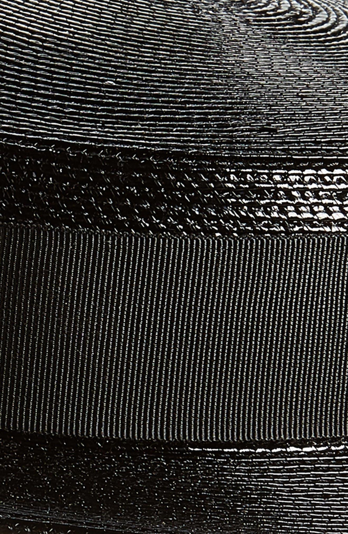 Petite Boater Hat,                             Alternate thumbnail 2, color,                             BLACK