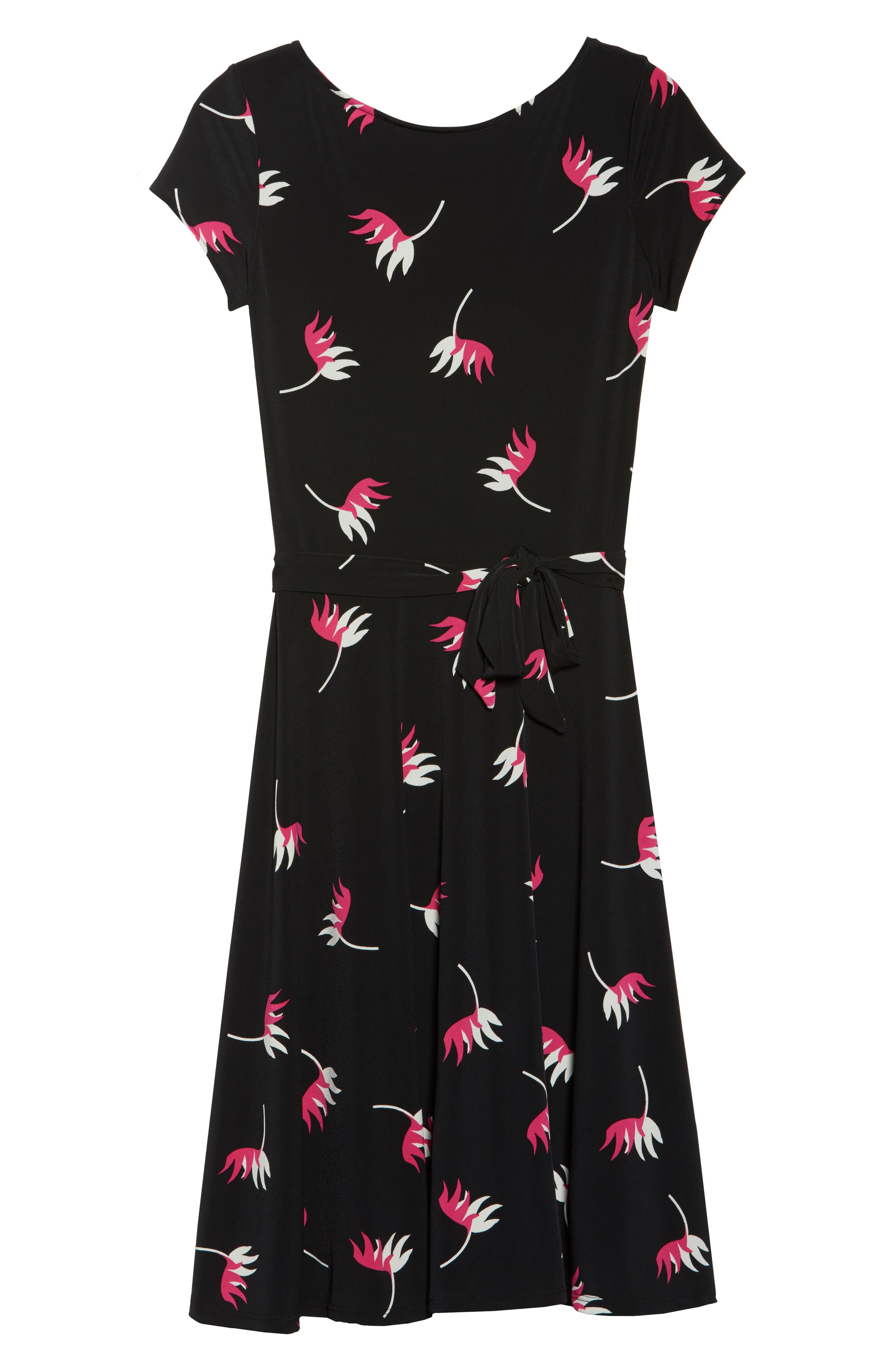 Llana Fit & Flare Dress,                             Alternate thumbnail 6, color,                             008
