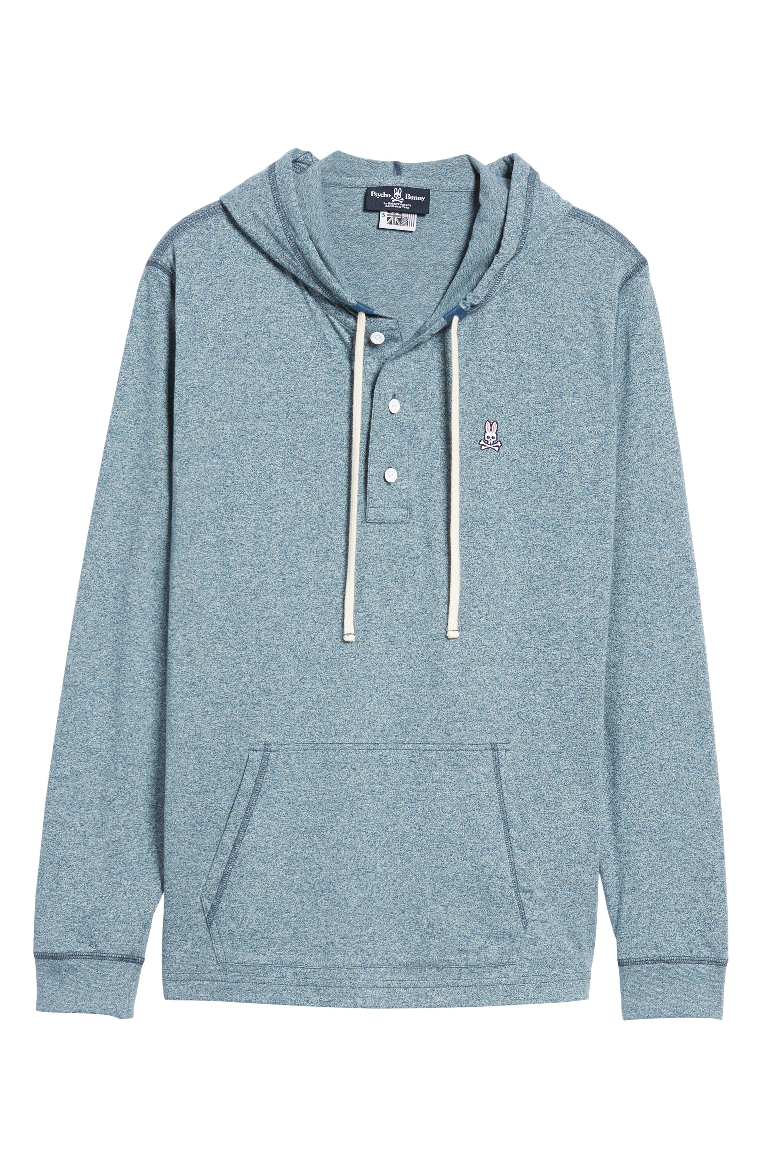 Embroidered Henley Hoodie,                             Alternate thumbnail 6, color,                             400