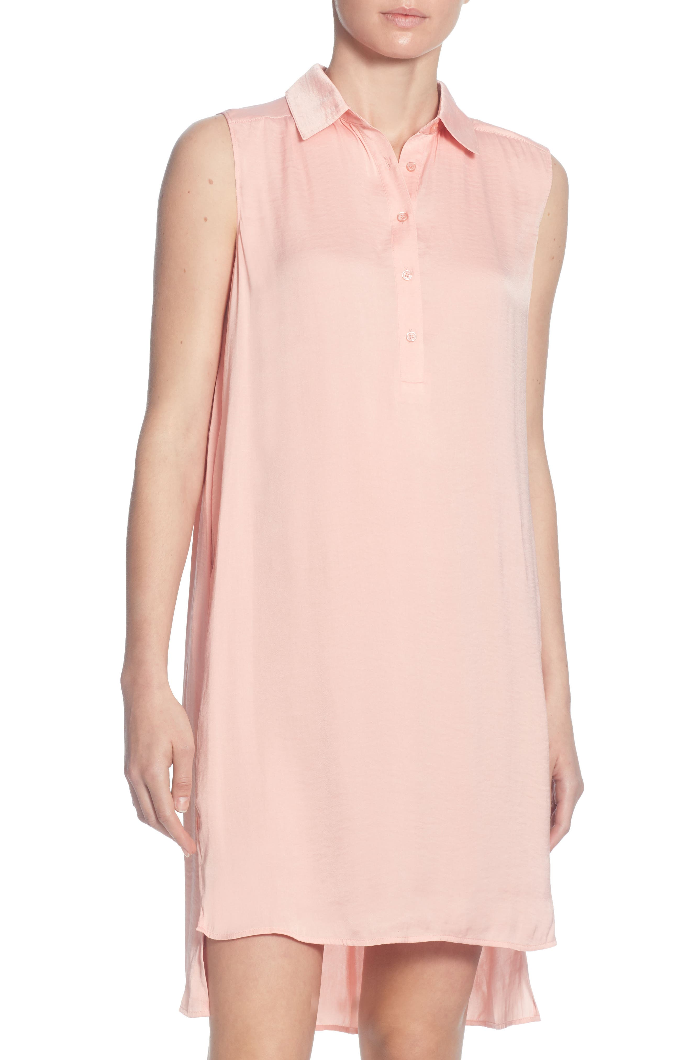 CATHERINE CATHERINE MALANDRINO Stella High/Low Tunic Top, Main, color, CORAL