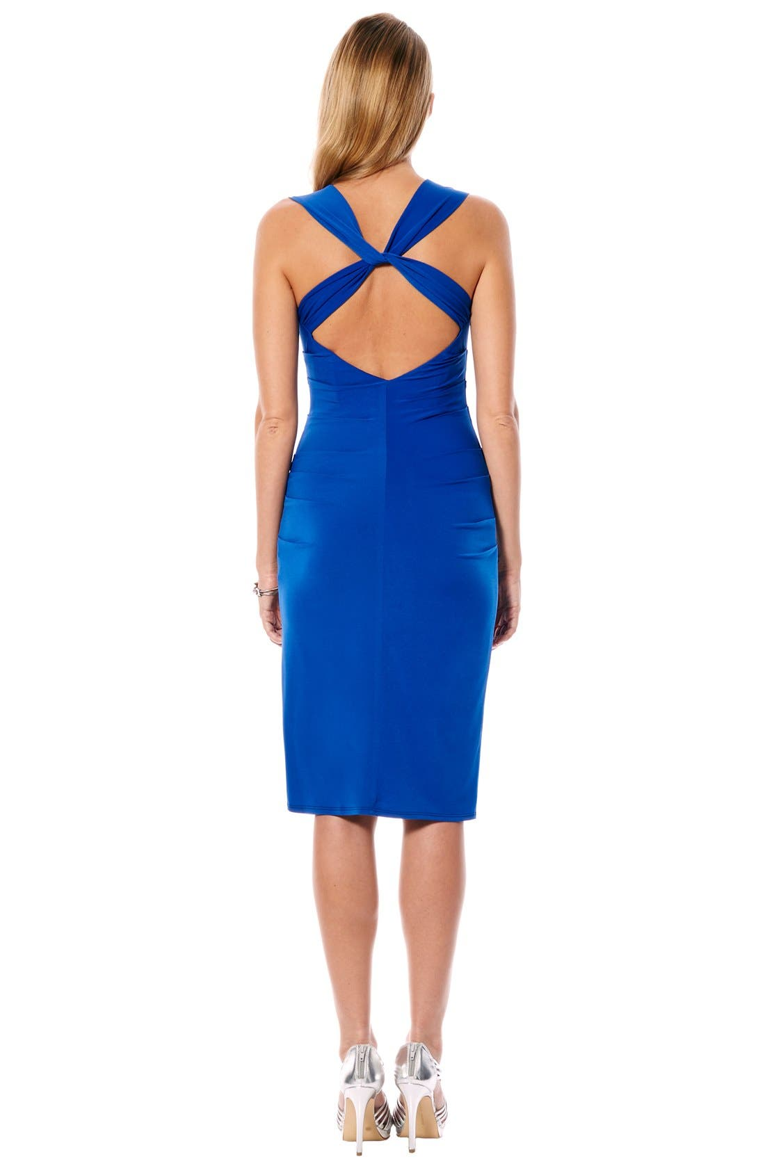 Twist Back Jersey Body-Con Dress,                             Alternate thumbnail 9, color,