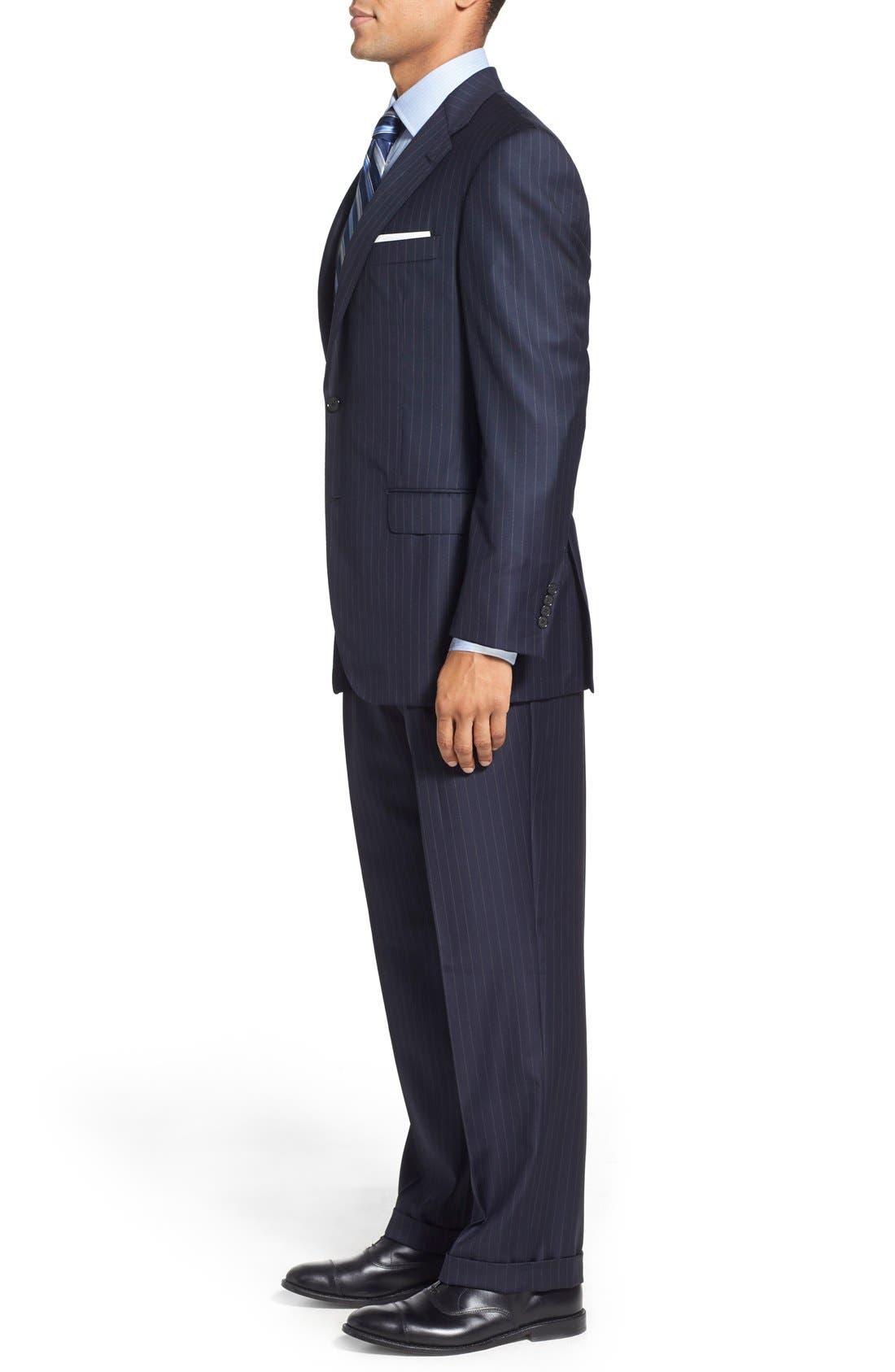 'Beacon - B Series' Classic Fit Stripe Wool Suit,                             Alternate thumbnail 2, color,                             400