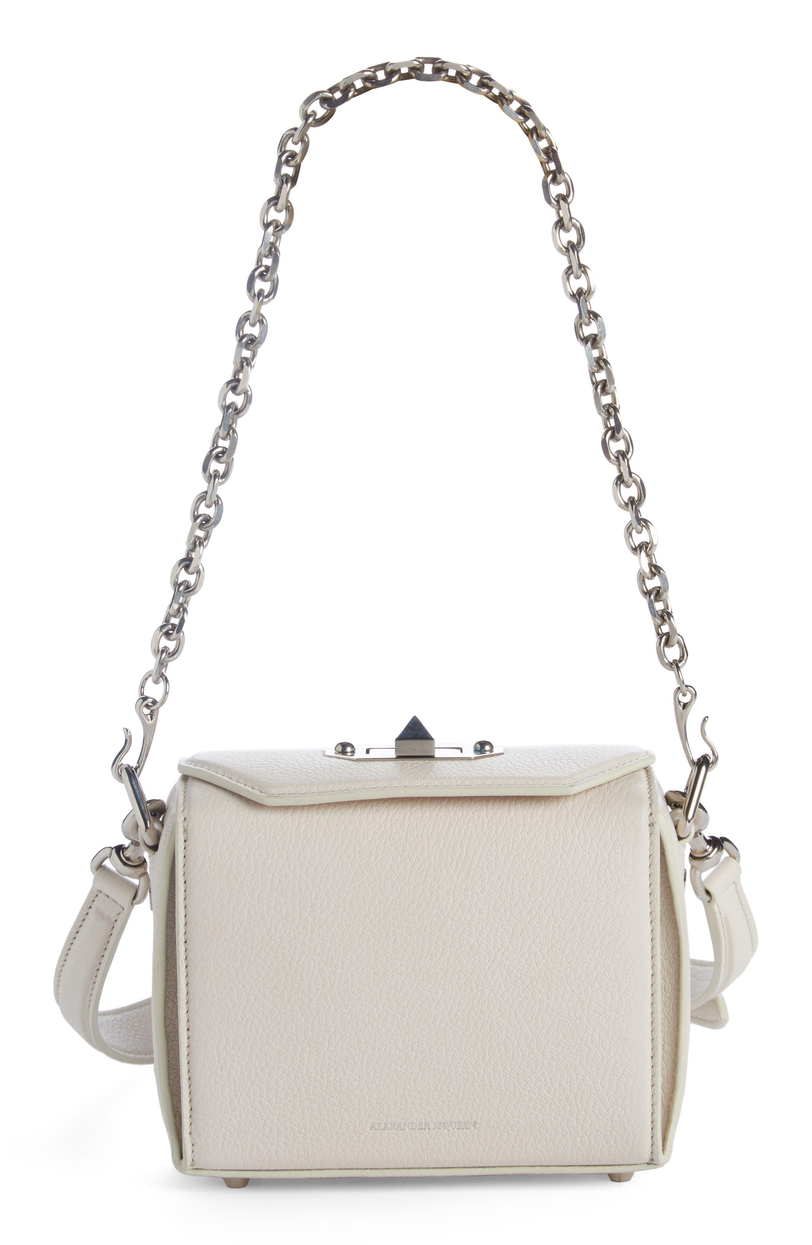 Box Bag 16 Grained Leather Bag,                             Alternate thumbnail 8, color,                             900